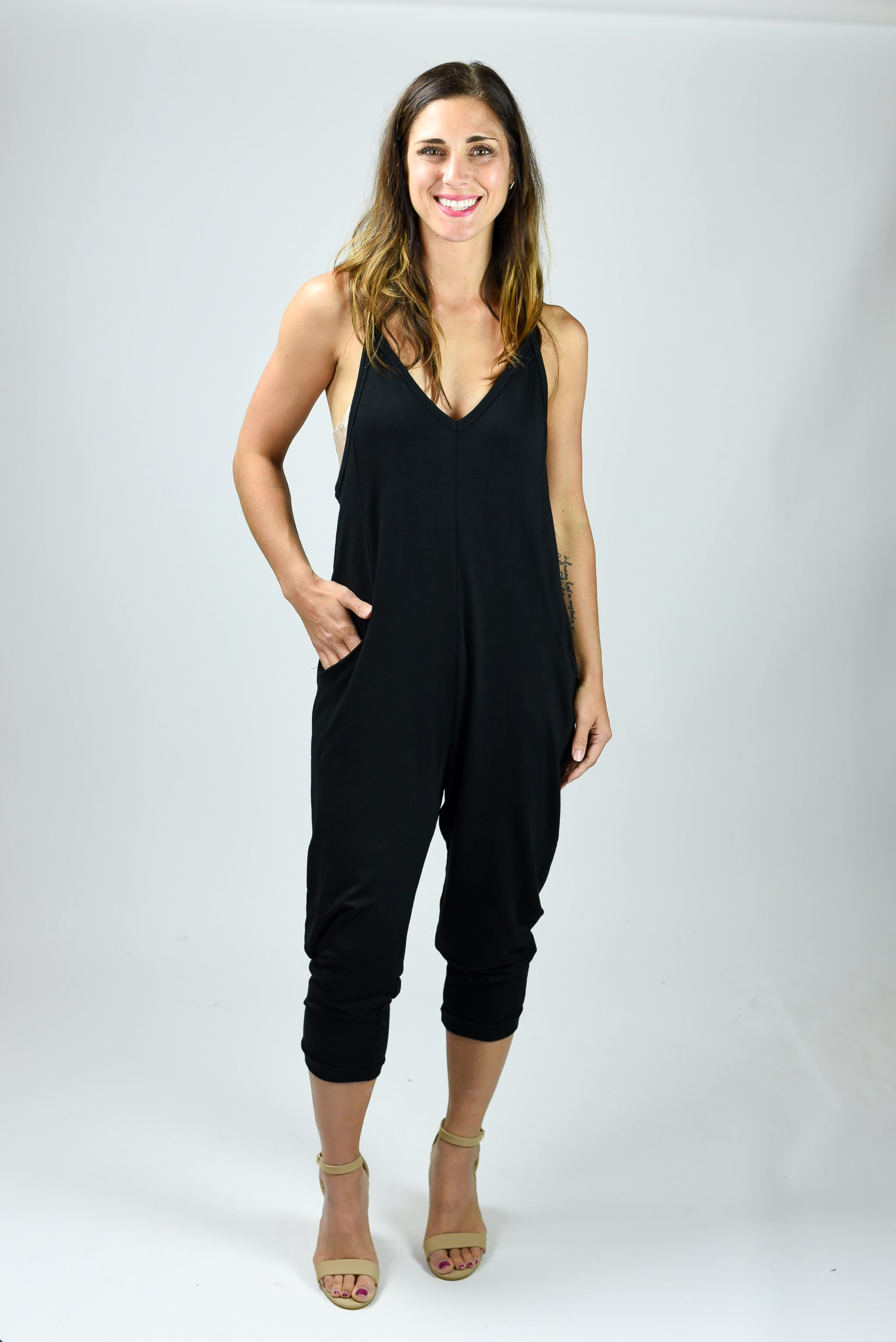 Top Hits Jumpsuit- Black