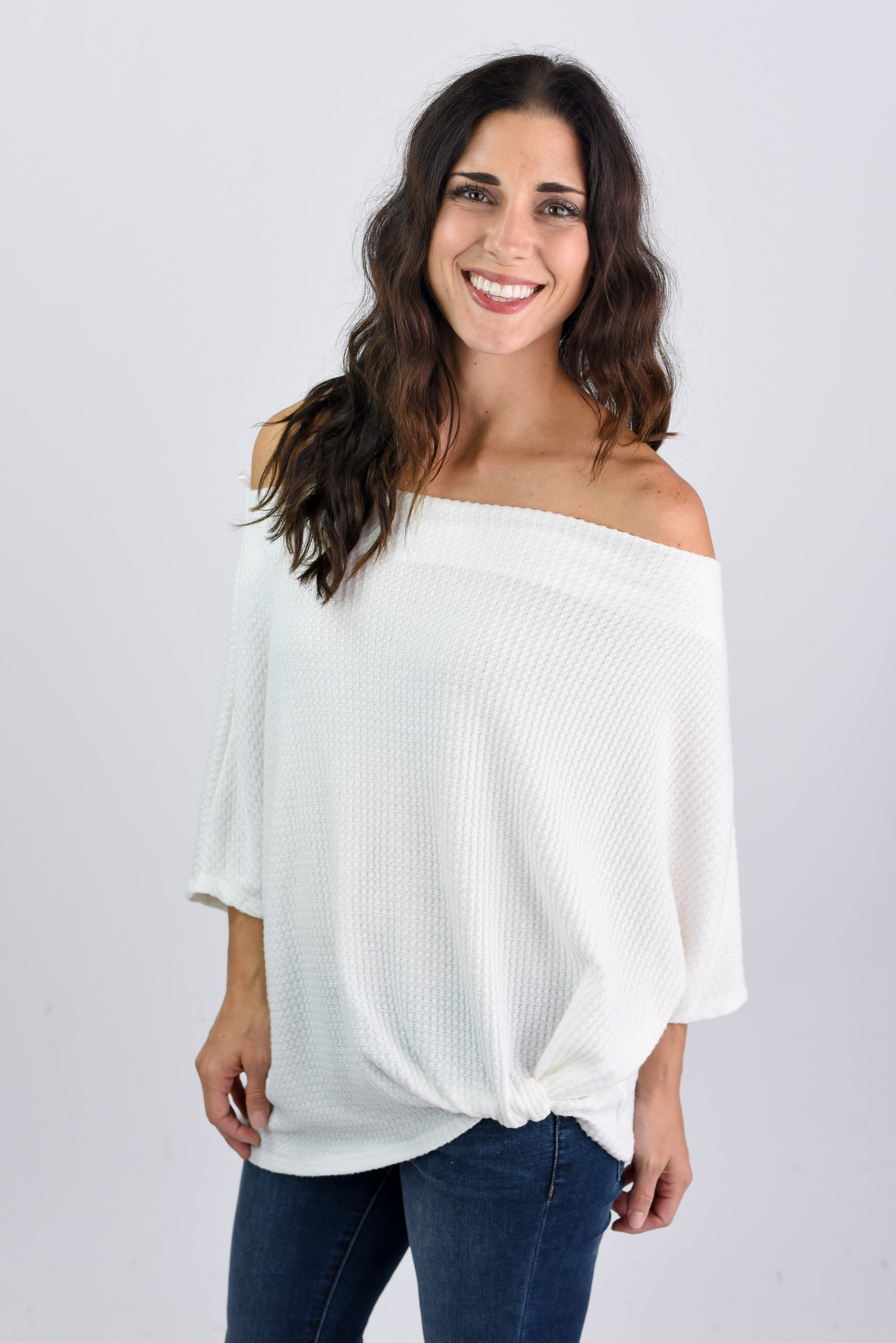 Born To Love You Off Shoulder Top- White