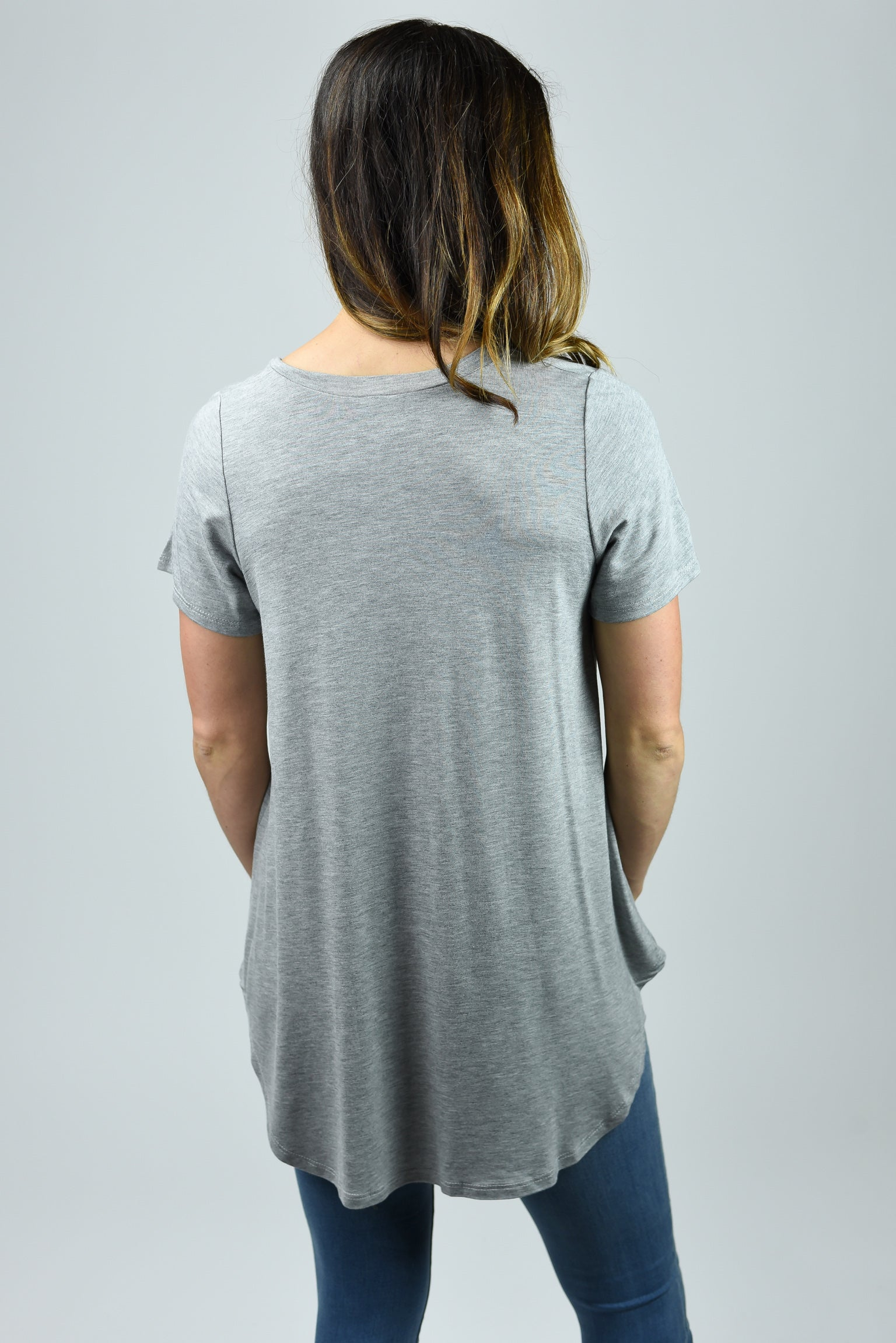 On Demand Basic Grey Tee