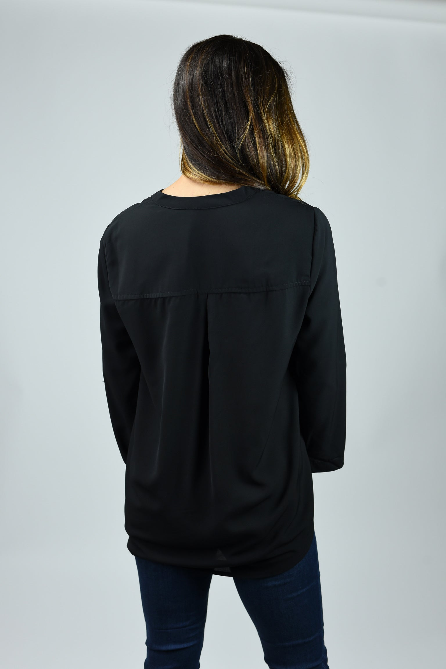 Boss Babe Black 3/4 Sleeve Blouse