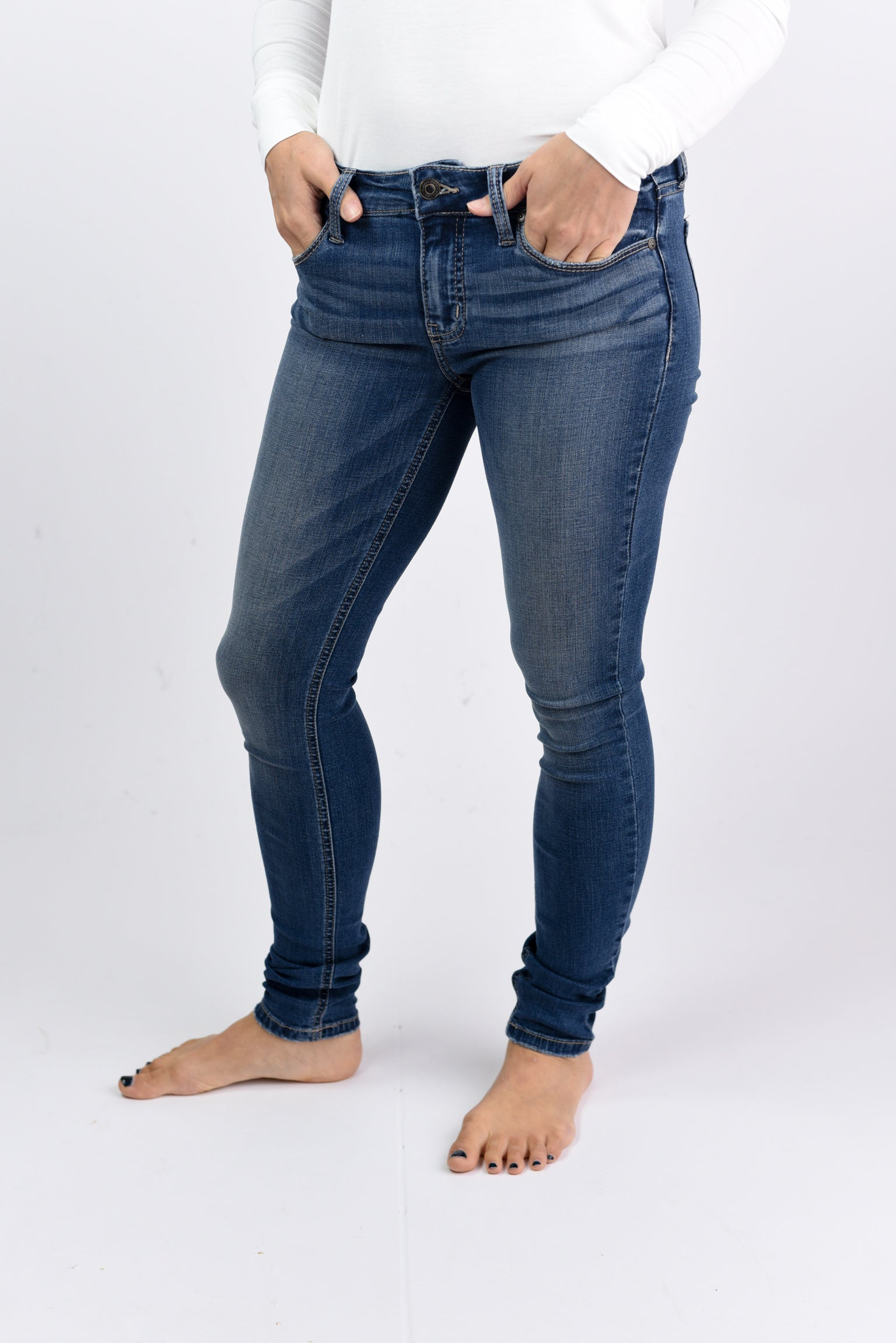 Every Little Thing Mid Rise Non Distressed Skinny Jeans