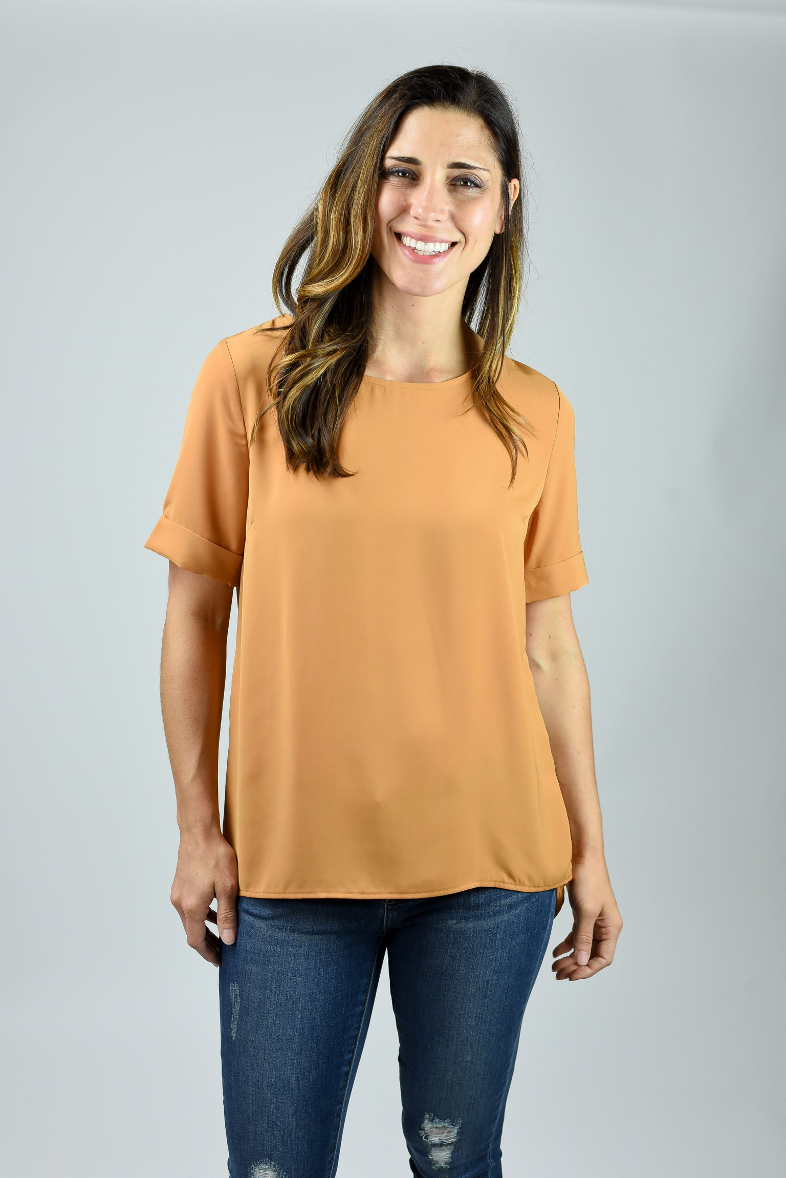 Taking Chances Triple Bow Back Blouse- Gold