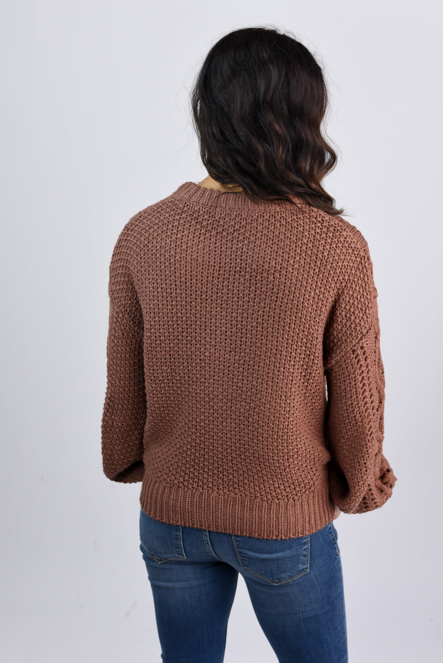 Autumn Inspired Sable Chunky Knit Sweater