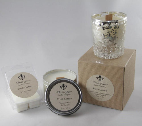 Fresh Cotton 8 oz Tin Candle