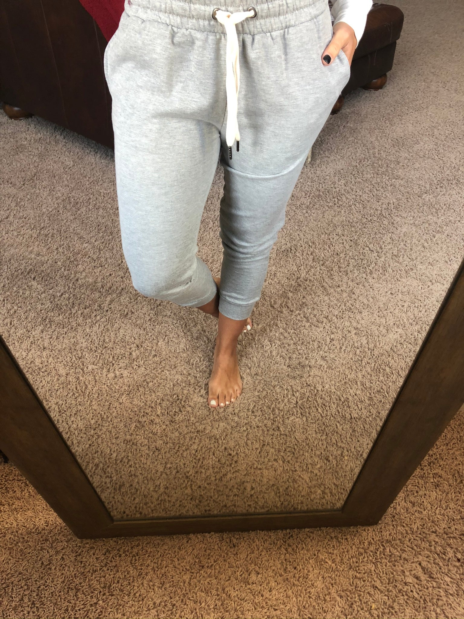 Always Traveling Jersey Joggers- Heather Grey