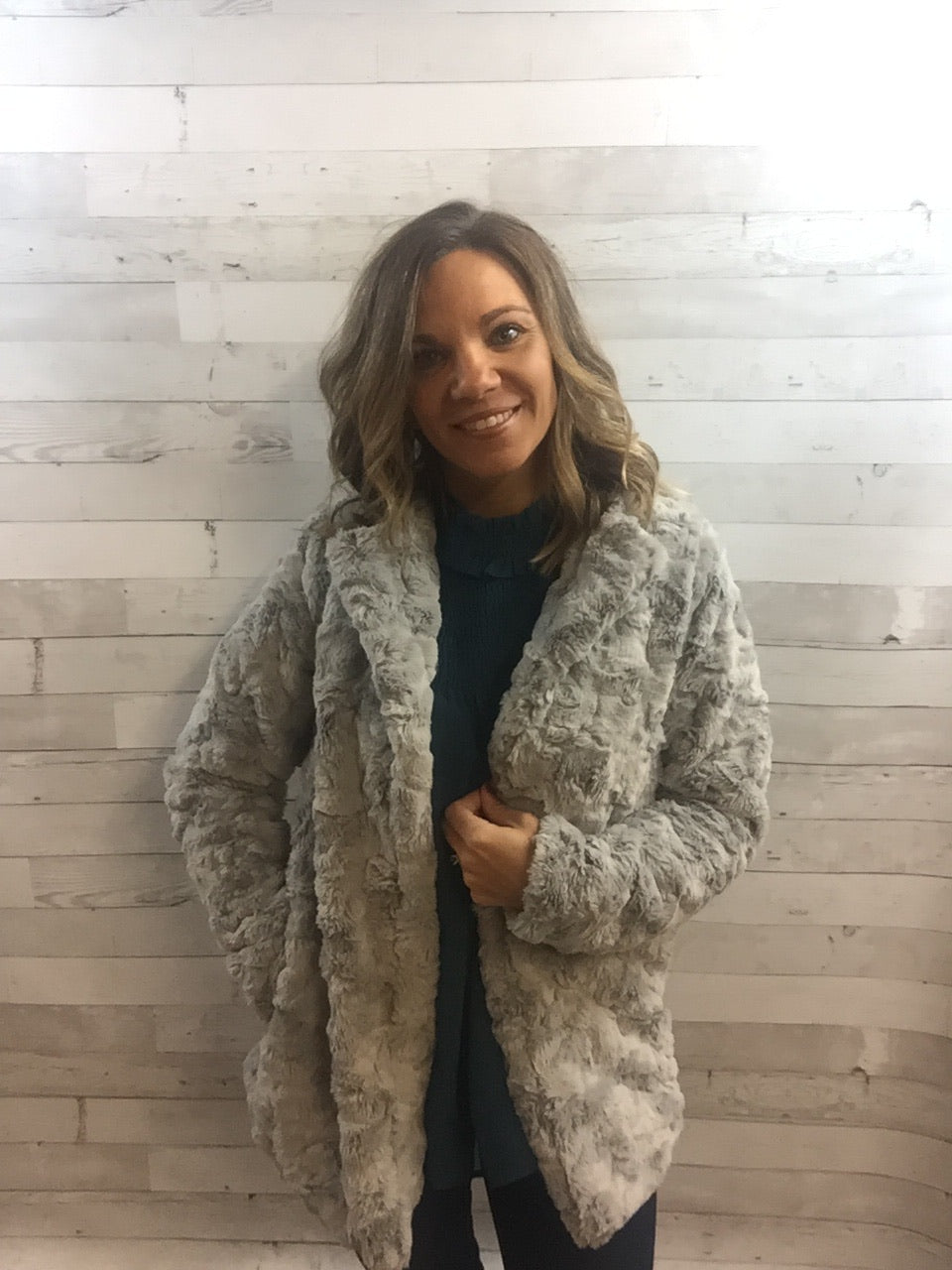 Turning Heads Faux Fur Coat