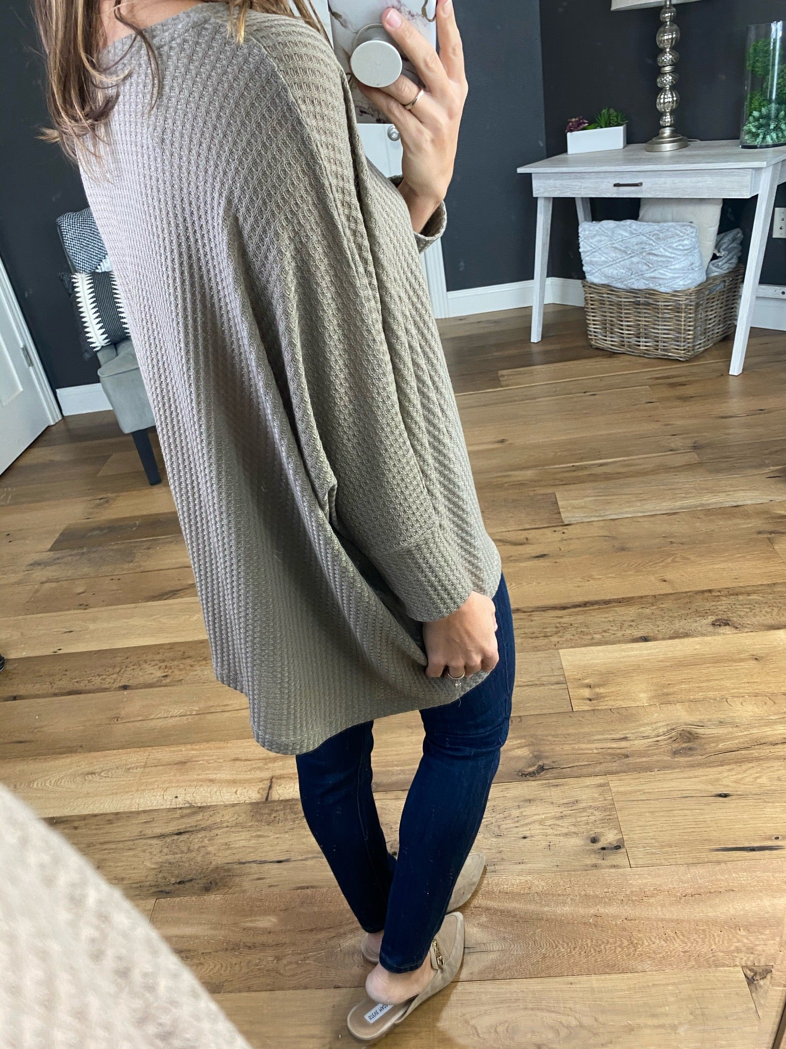 Give It All Dolman 3/4 Sleeve Oversized Waffle--Multiple Options