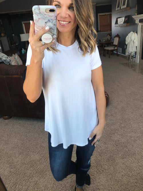 Good Foundation Tee With Rounded Hem - White