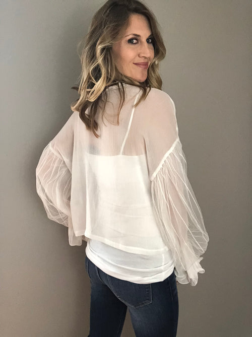 Let's Make a Statement Balloon Sleeve Blouse