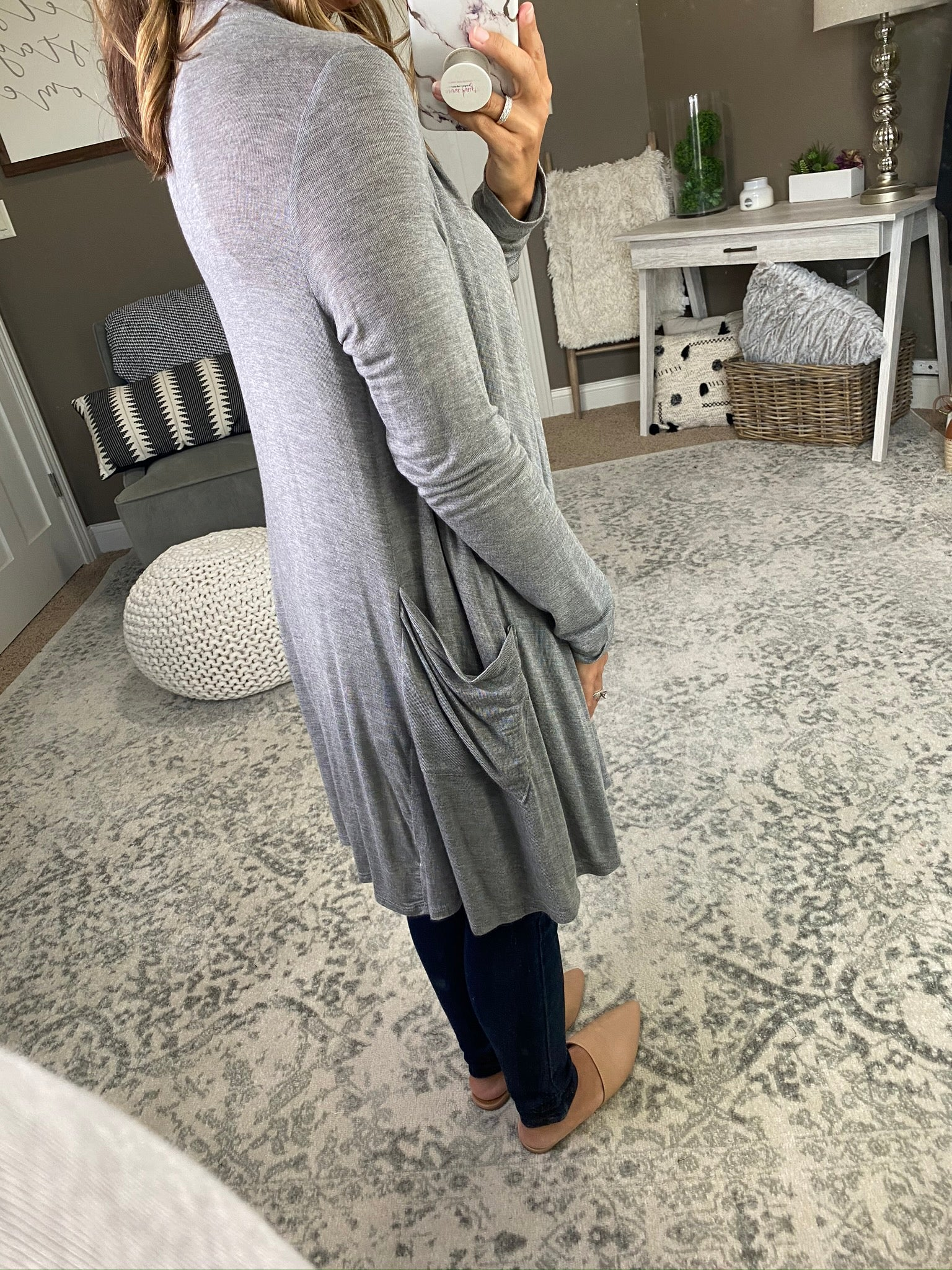 In The Office Lightweight Grey Cardigan