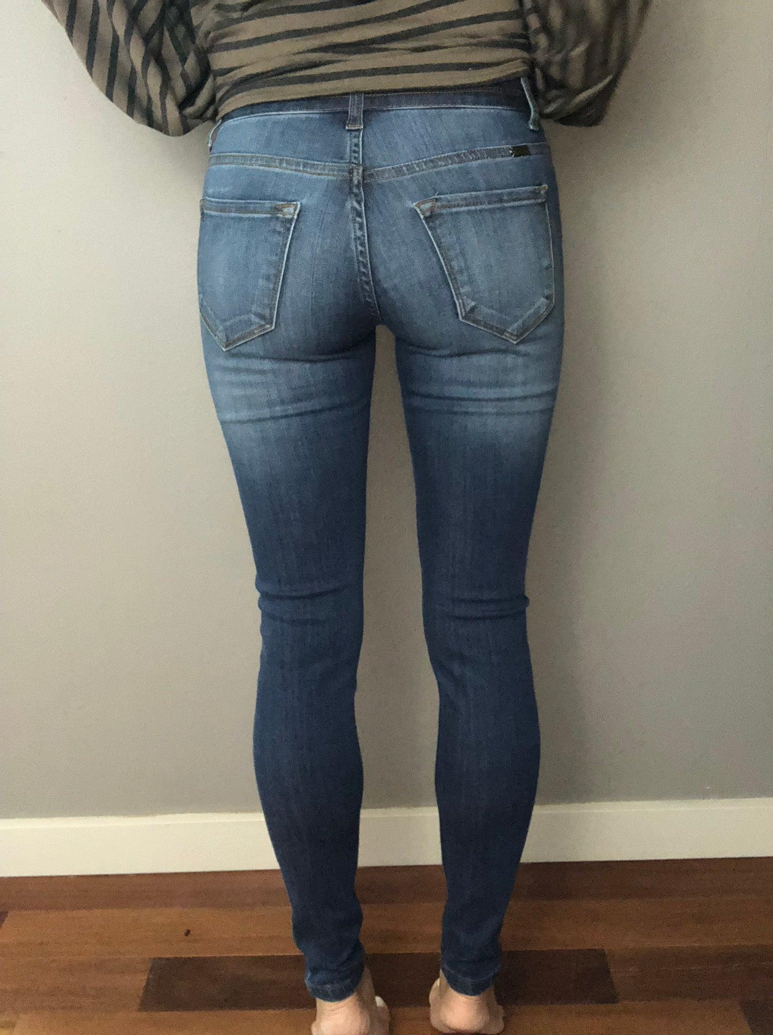 More To Tell Distressed Knee Skinny Jeans