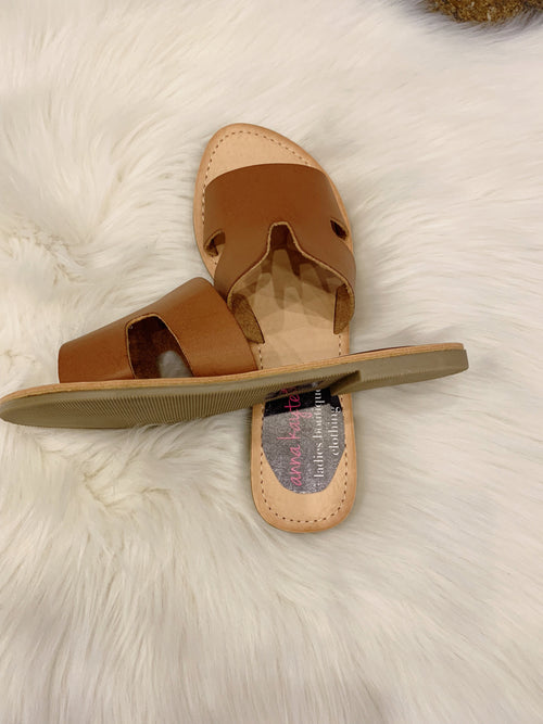 Test Your Limits Tan Sandals