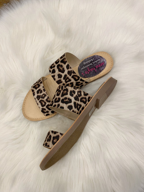 When The Beat Drops Double Strap Sandal - Cheetah Print