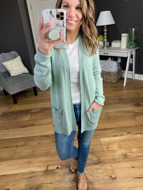 Life Happens Open Front Cardigan with Side Button Details- Multiple Options