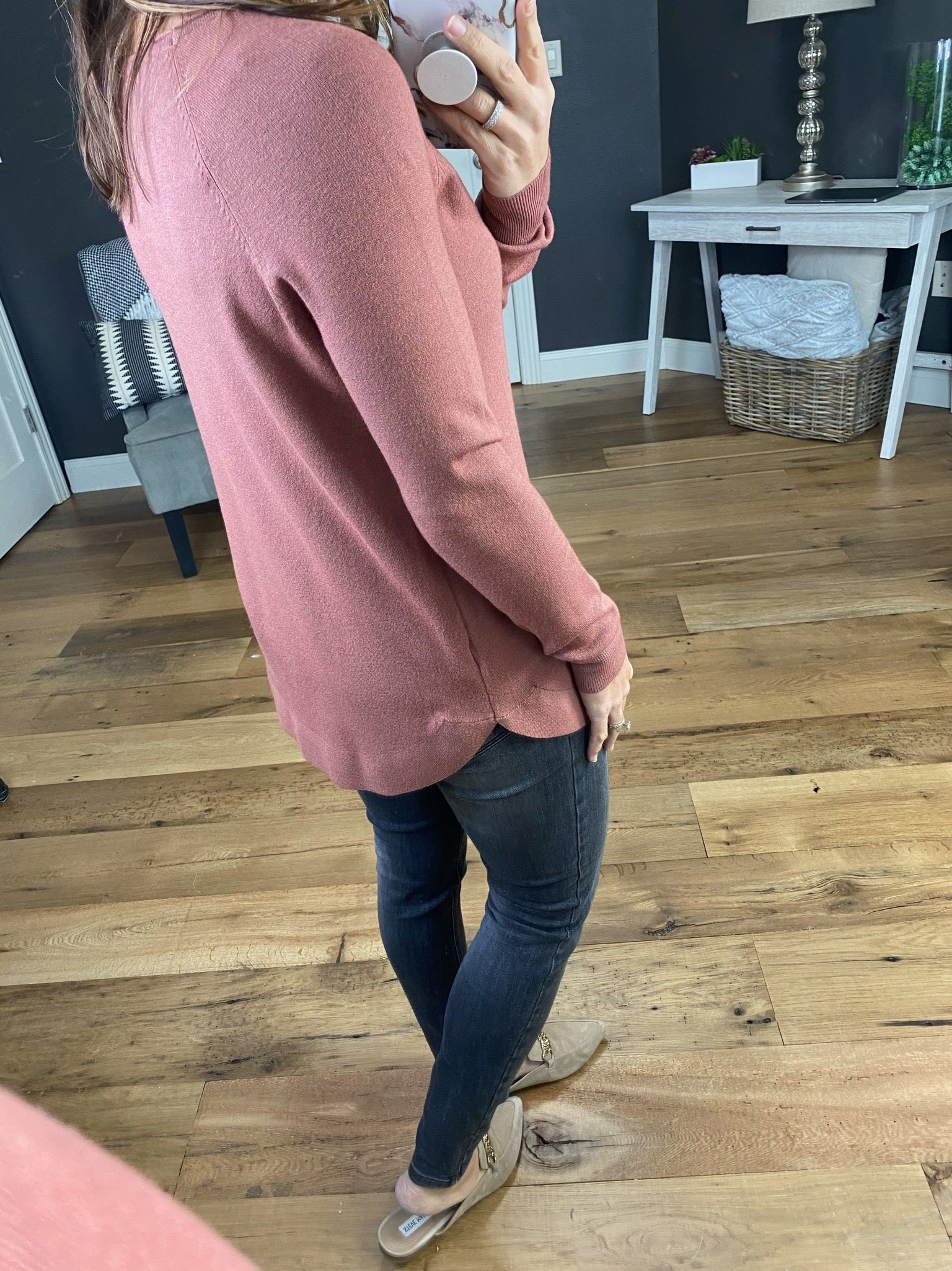 One Of A Kind Crew Sweater with Scoop Hem--Multiple Options