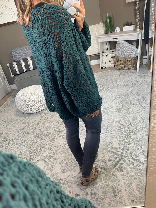 Just You And Me Patterned Loose Knit Oversize Sweater- Multiple Options