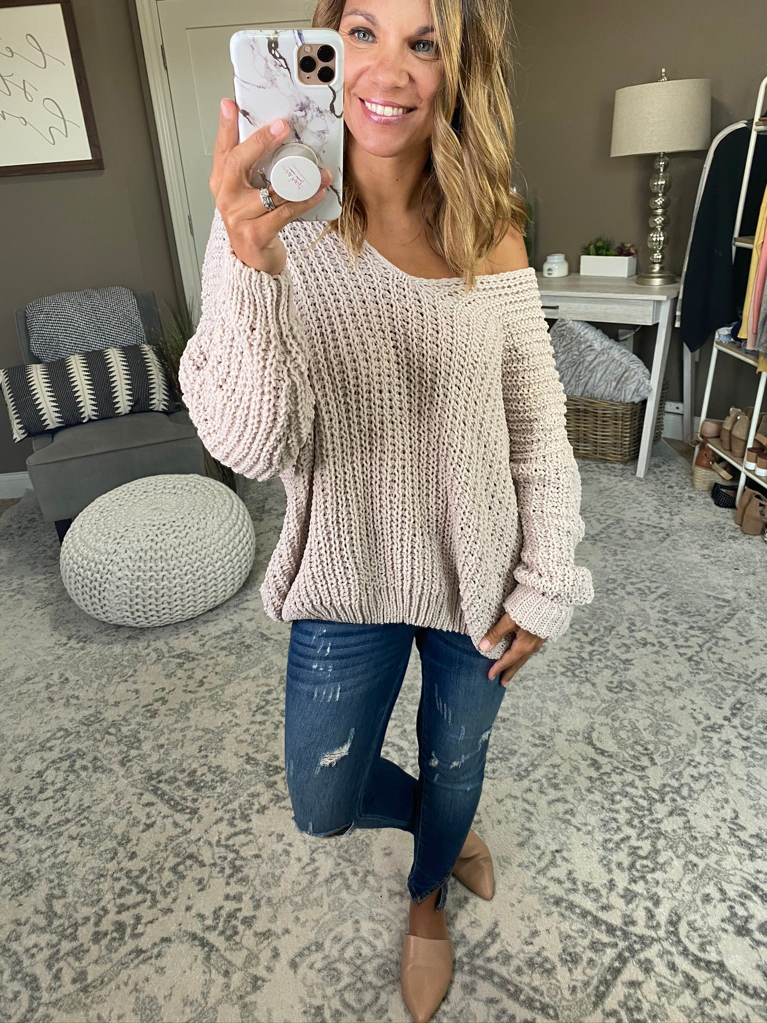 Put On Replay Loose Knit Chenille Sweater- Multiple Options