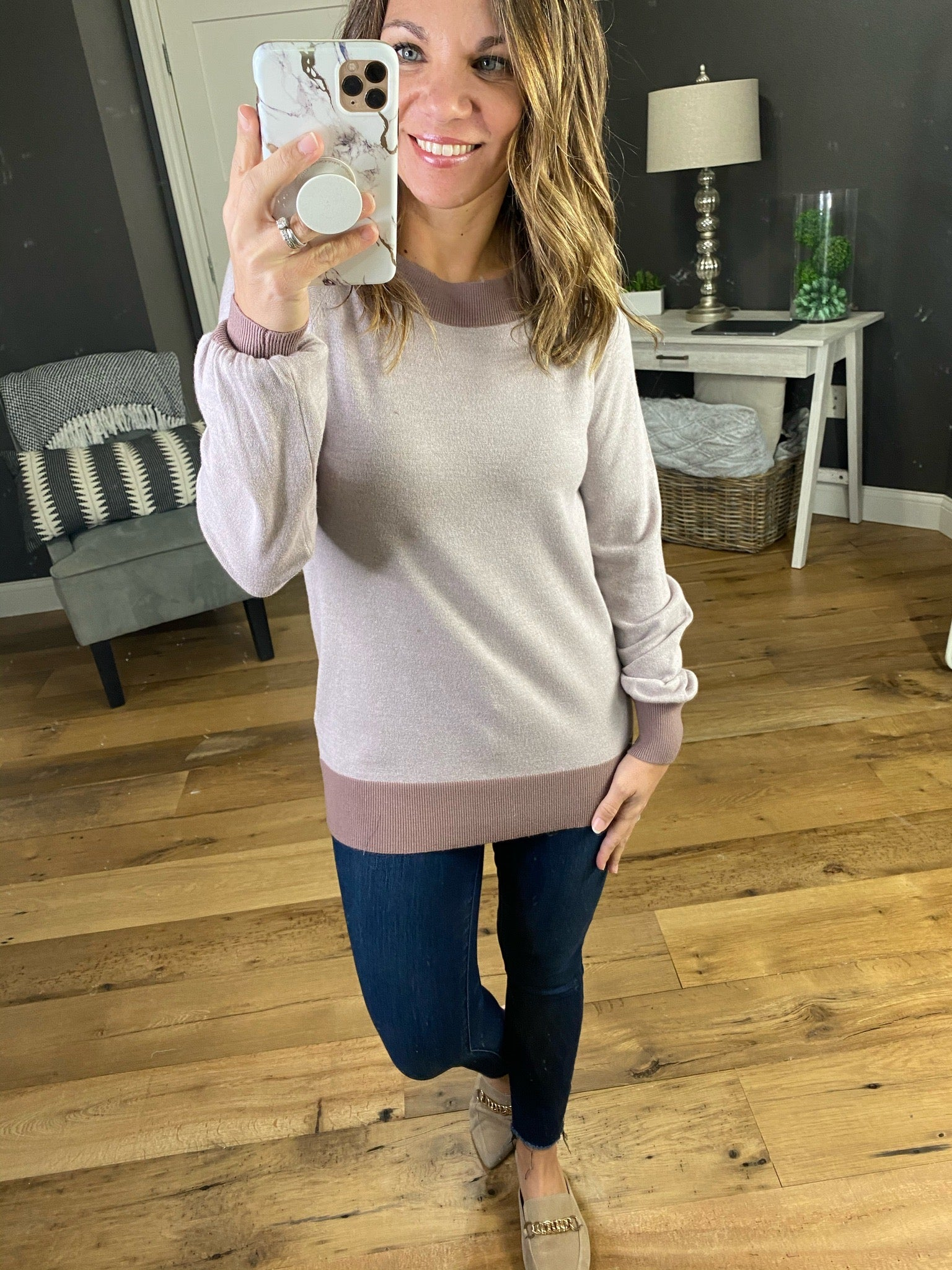 Fairytale Ending Lightweight Sweater with Contrasting Hems - Multiple Options