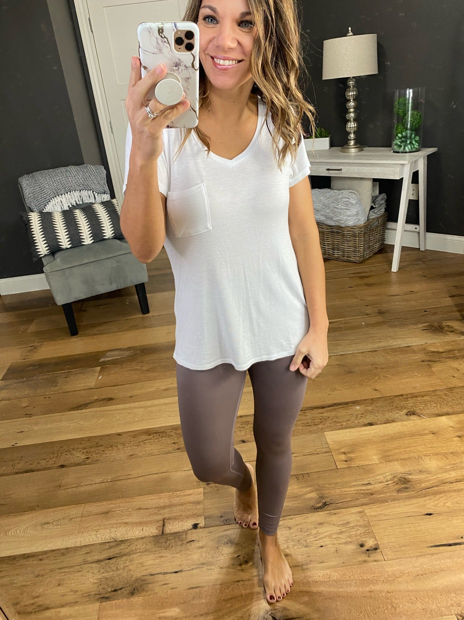 Get In The Groove Mocha Leggings with Mesh Ankle