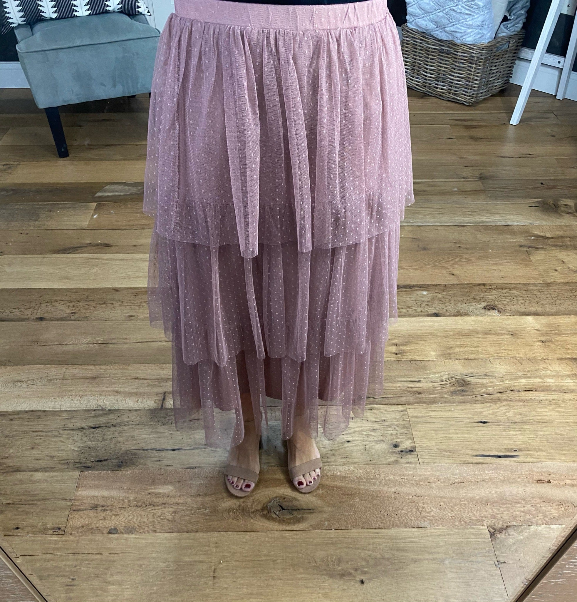 Dance Floor Tiered Flounce Midi Skirt - Multiple Options