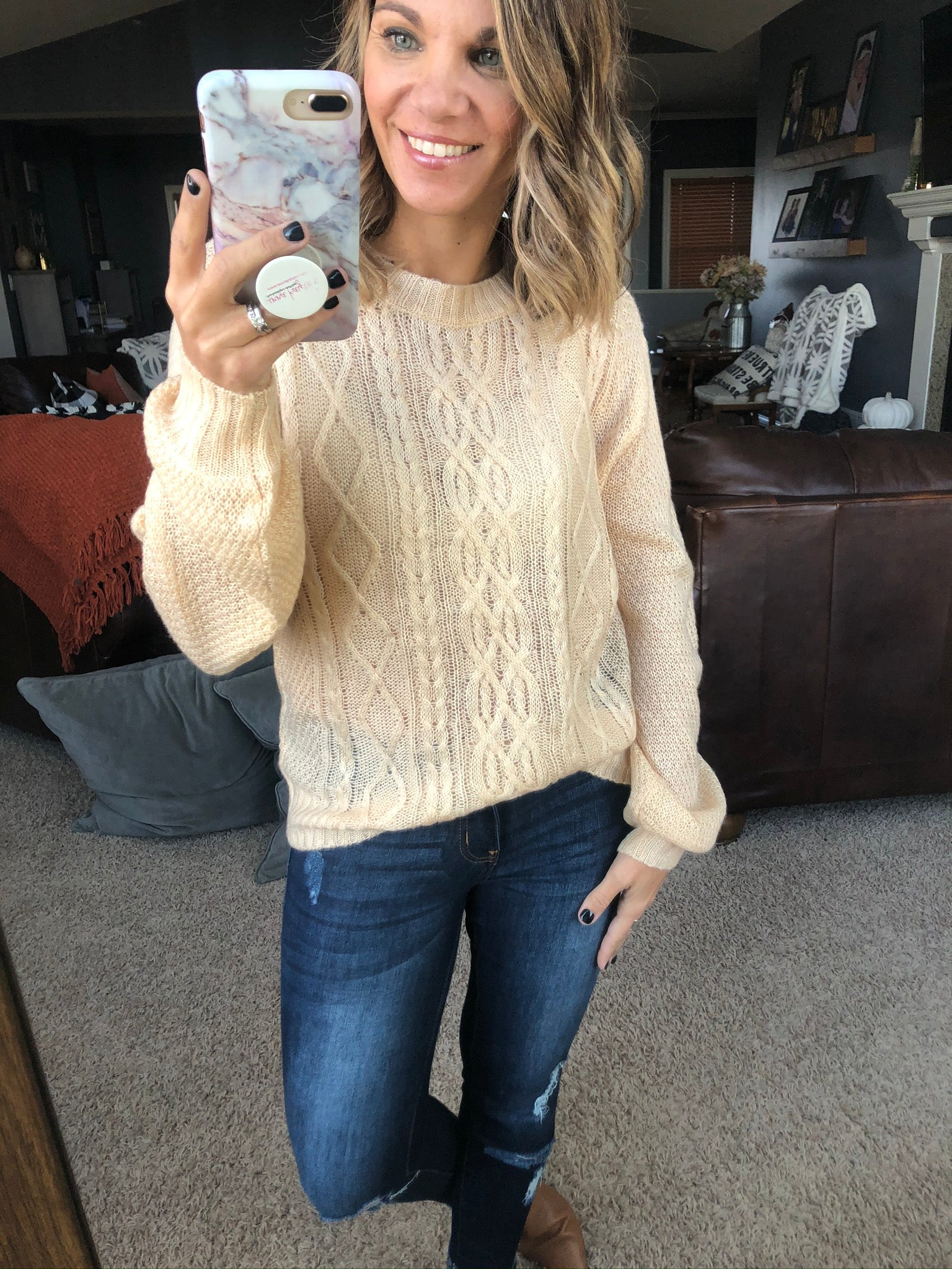 Won't Be Late Lightweight Loose Knit Sweater - Ivory
