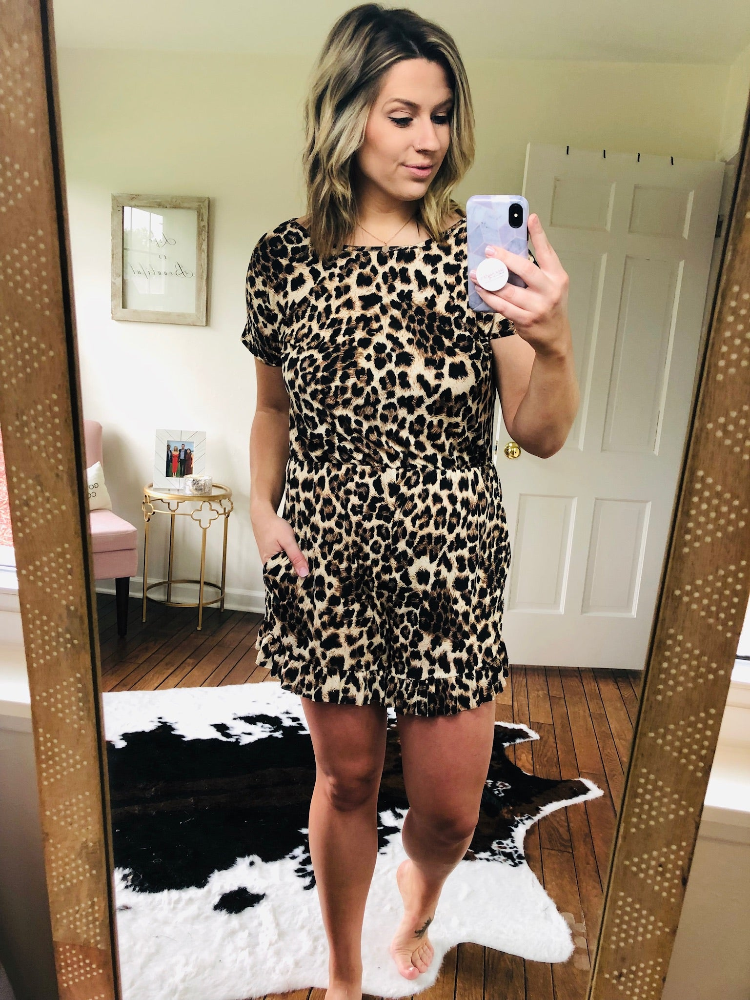 Livin' on the Edge Cheetah Print Short Sleeve Romper