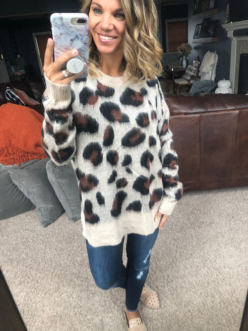 Wild Times Mohair Cheetah Sweater