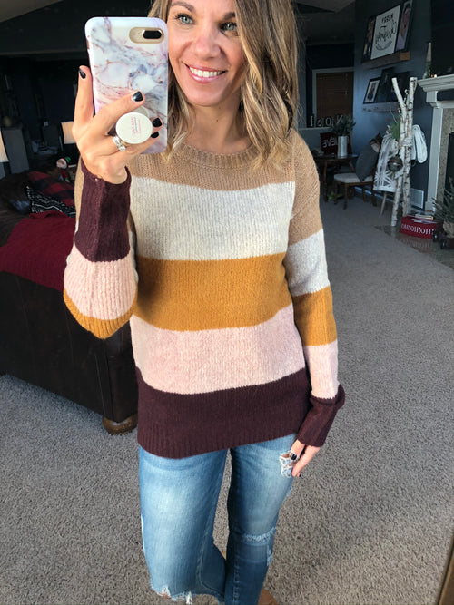 Good Ideas Neutral Stripe Sweater