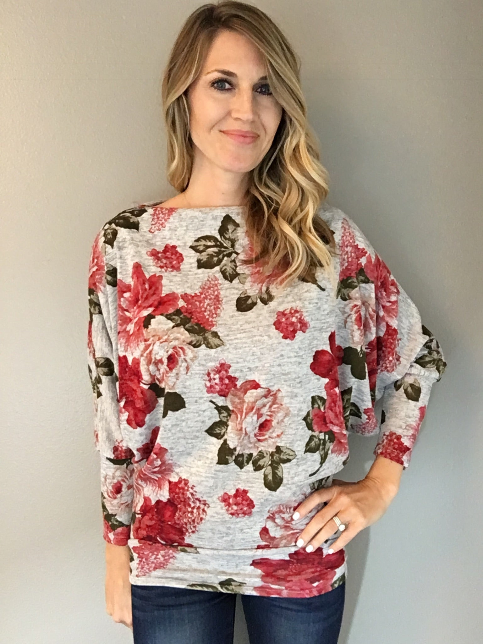 In Plain Sight Floral Top