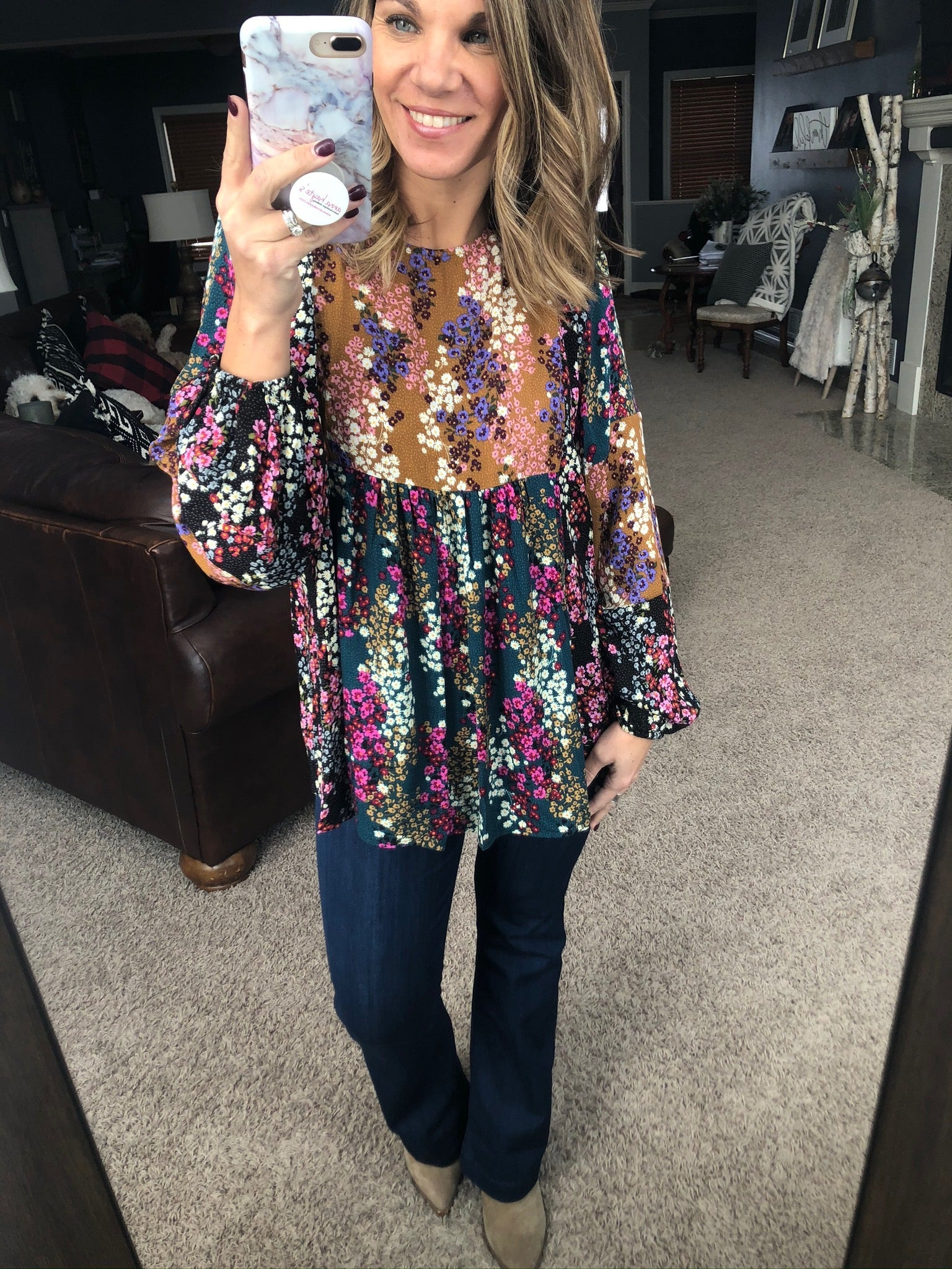 Floral Dreams Mixed Floral Boho Long Sleeve