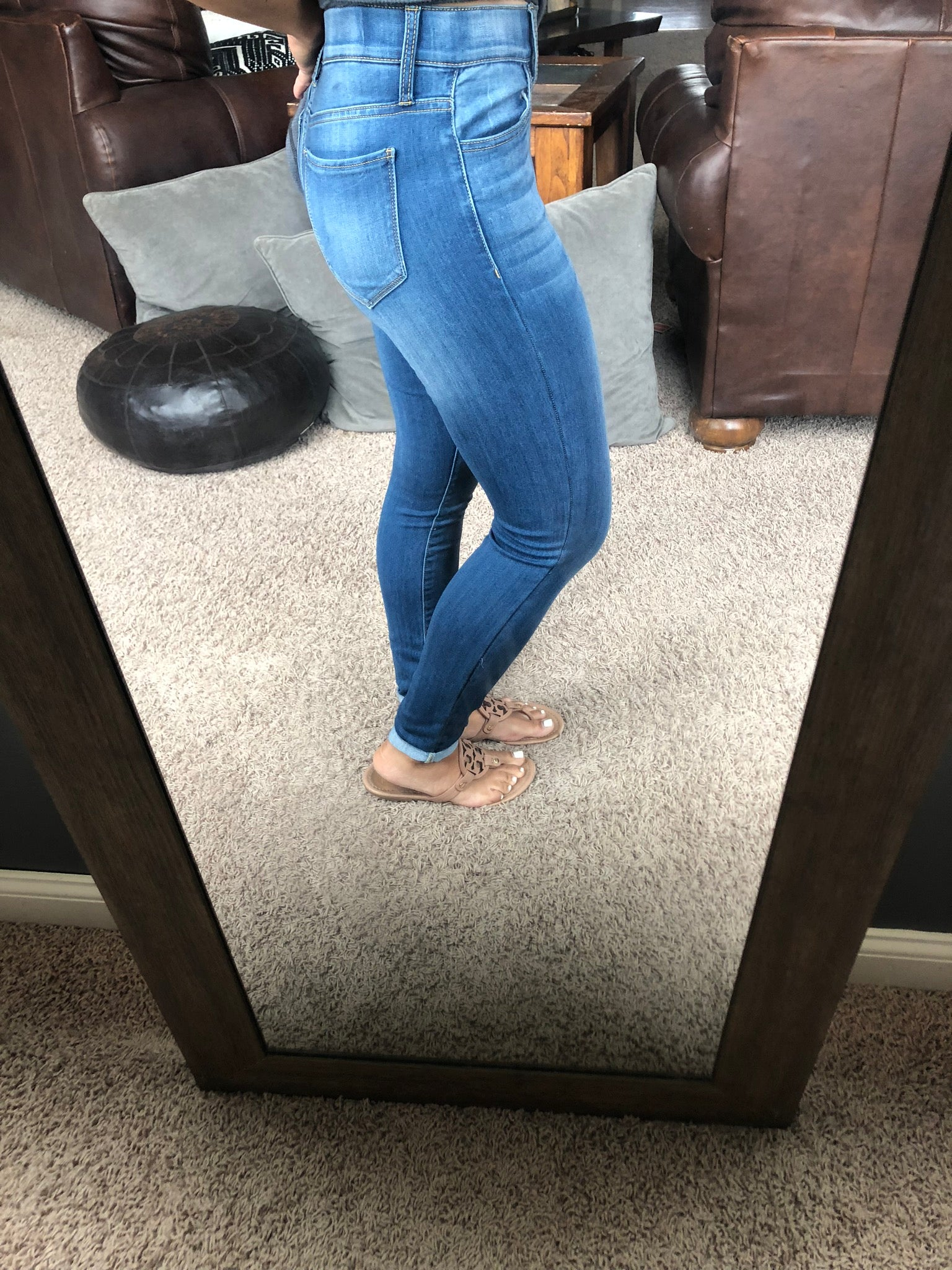 Jetset Life Mid Rise Skinny Jegging Medium Wash