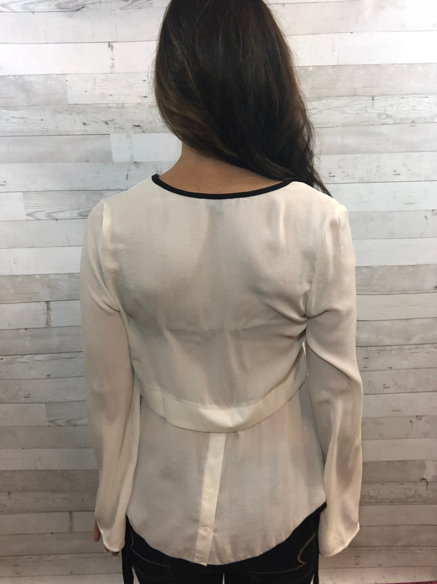 Lighting The Way Ivory Blouse Top