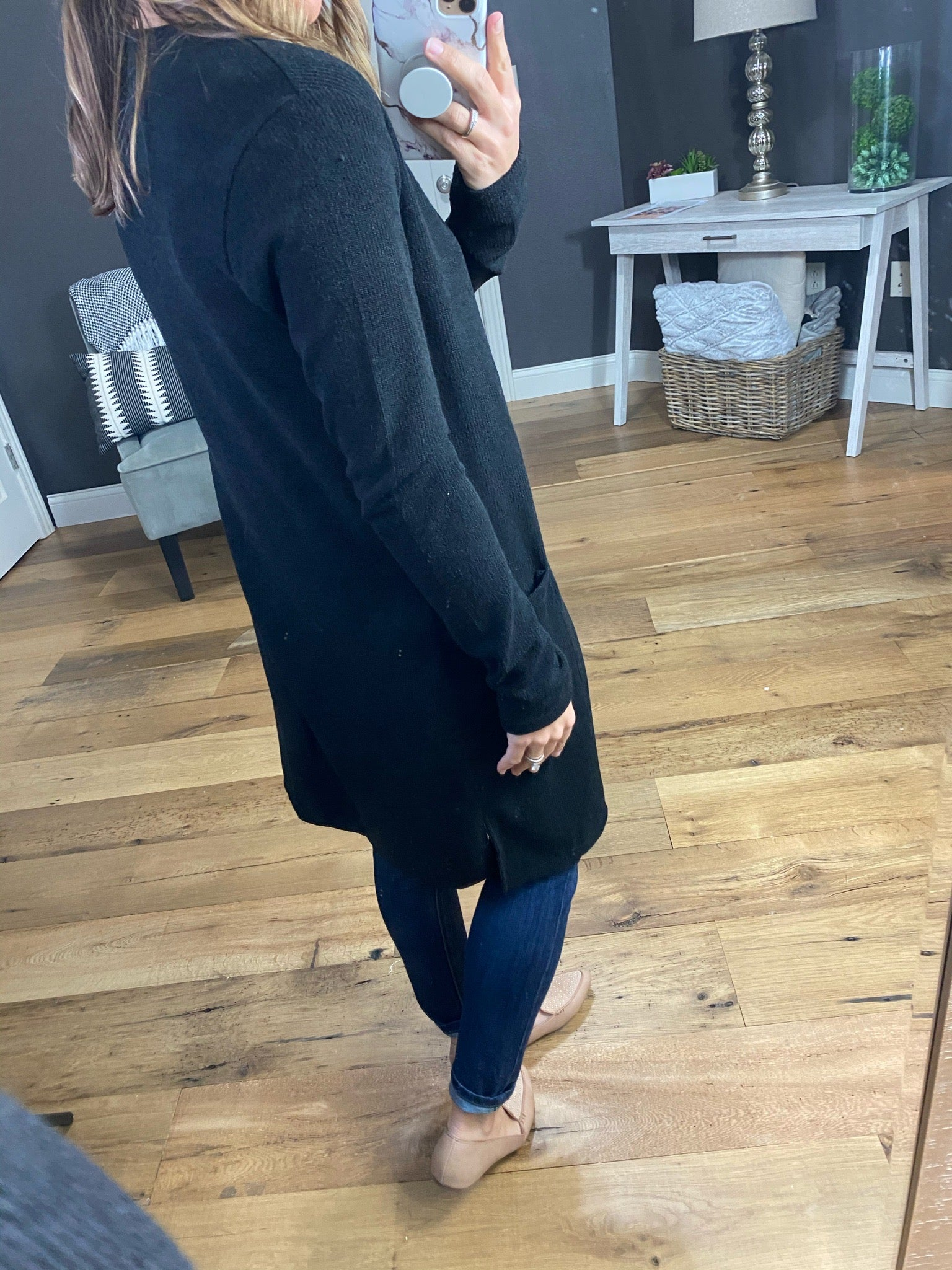 Think Of You Ribbed Lightweight Long Cardigan with Pockets--Multiple Options