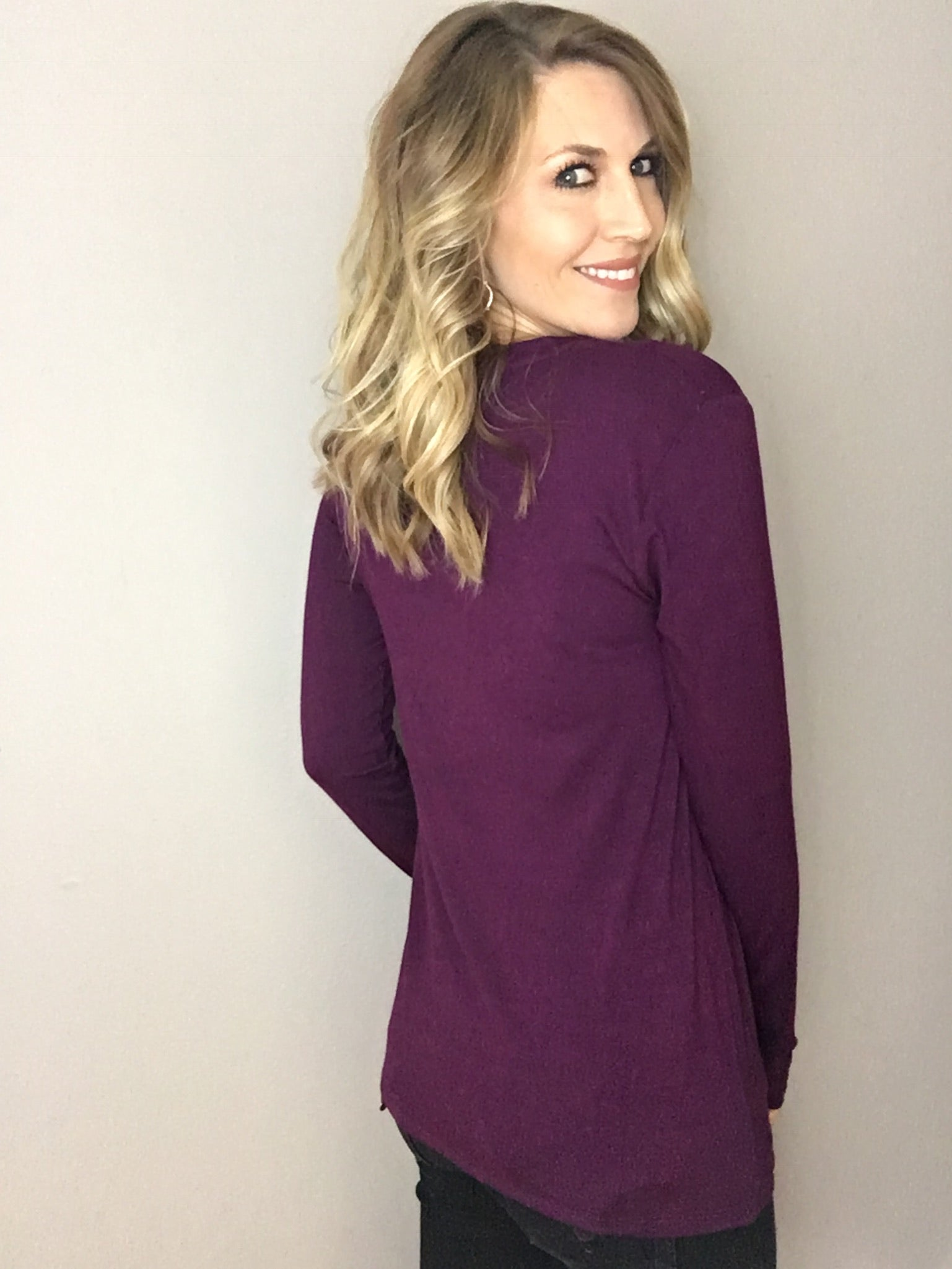 All The Ways Layering Long Sleeve- Plum