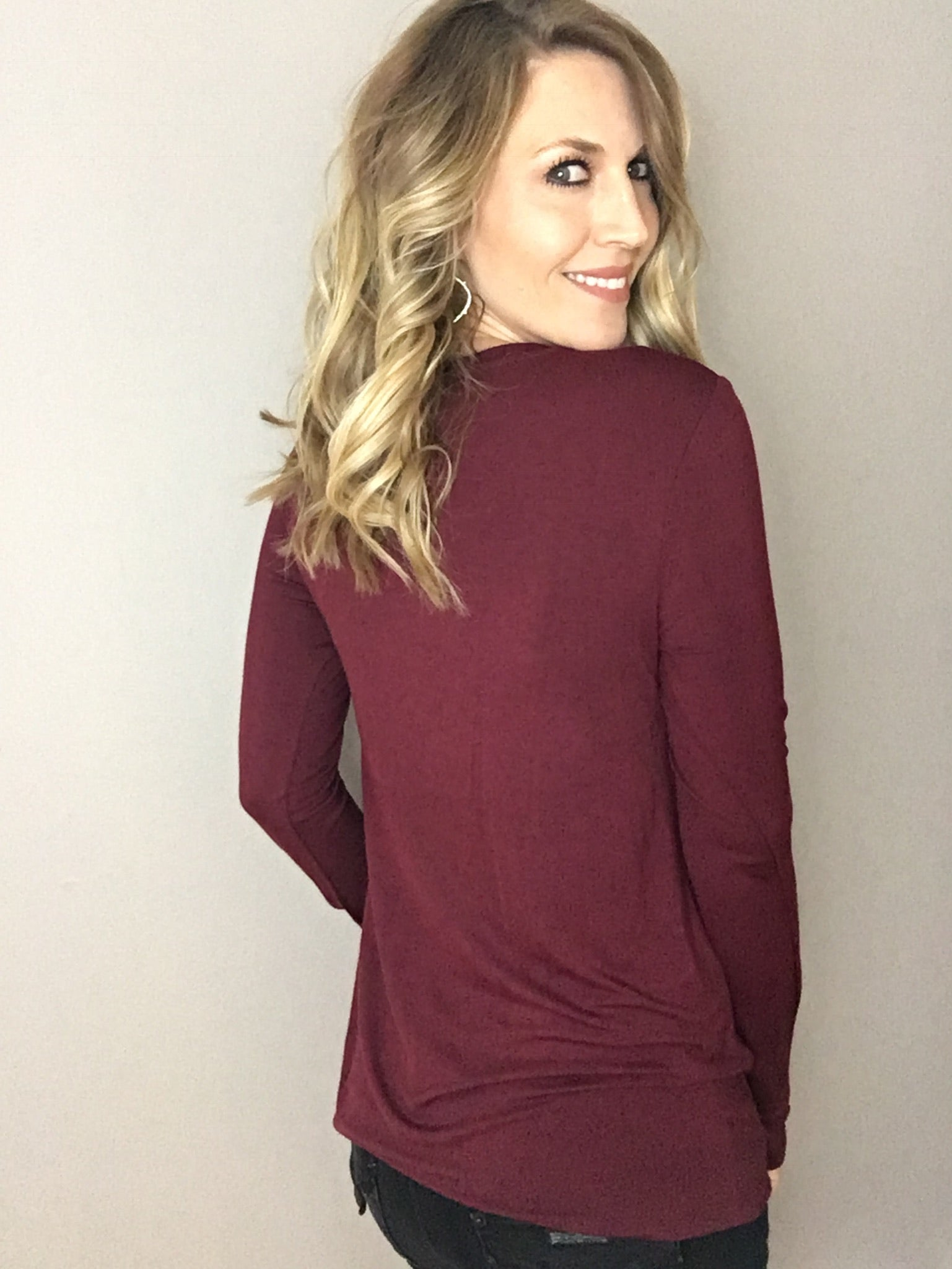 All The Ways Layering Long Sleeve- Burgundy