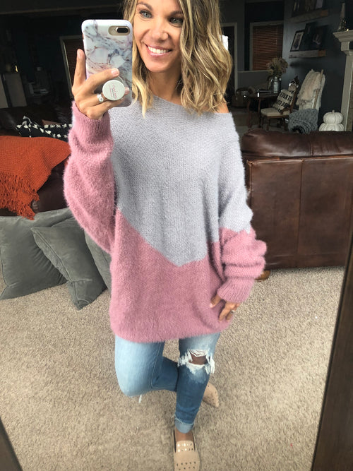 How It was Mohair Asymmetrical Dolman Sweater