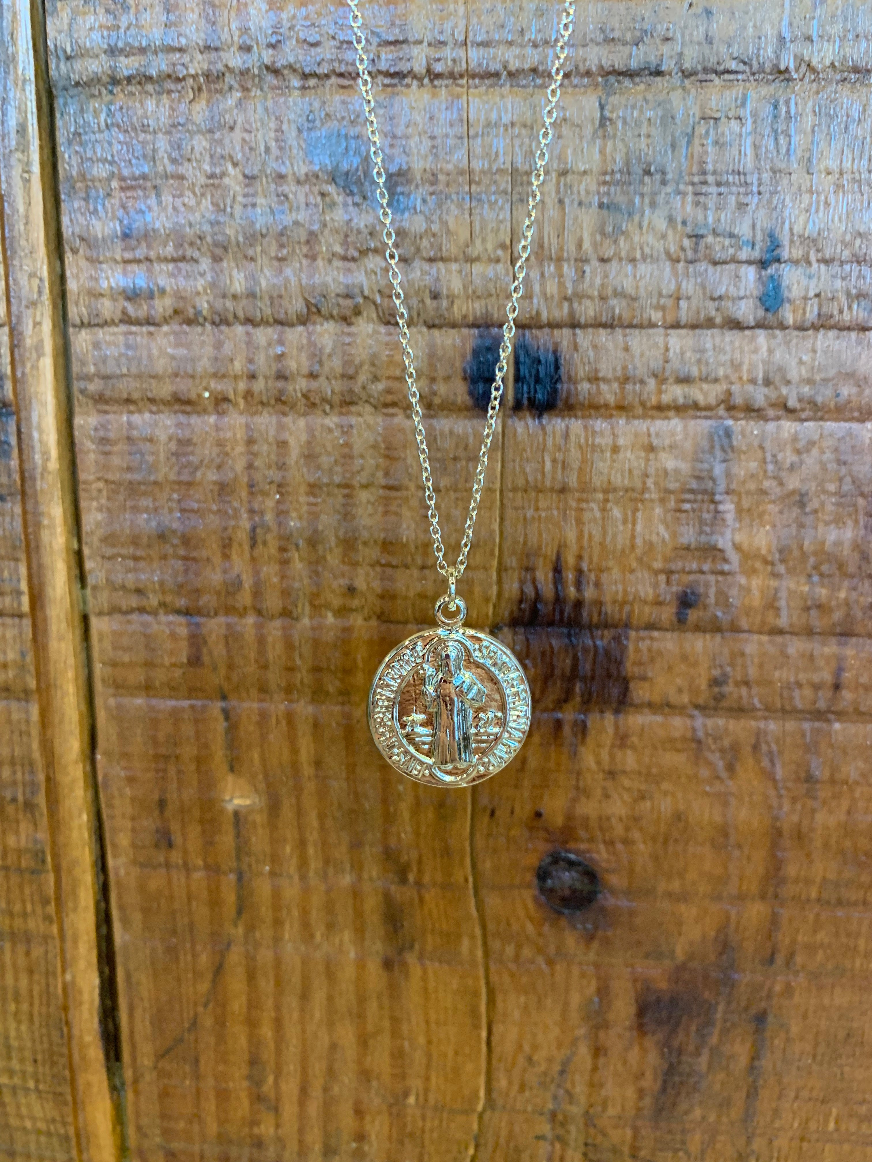 My Lucky Gold Coin Necklace