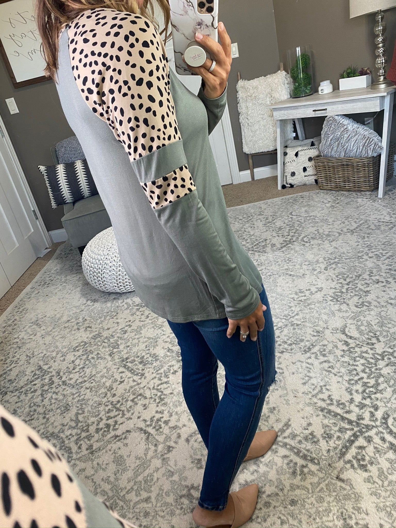 Hope You Know Buttersoft Long Sleeve with Leopard Sleeve- Multiple Options