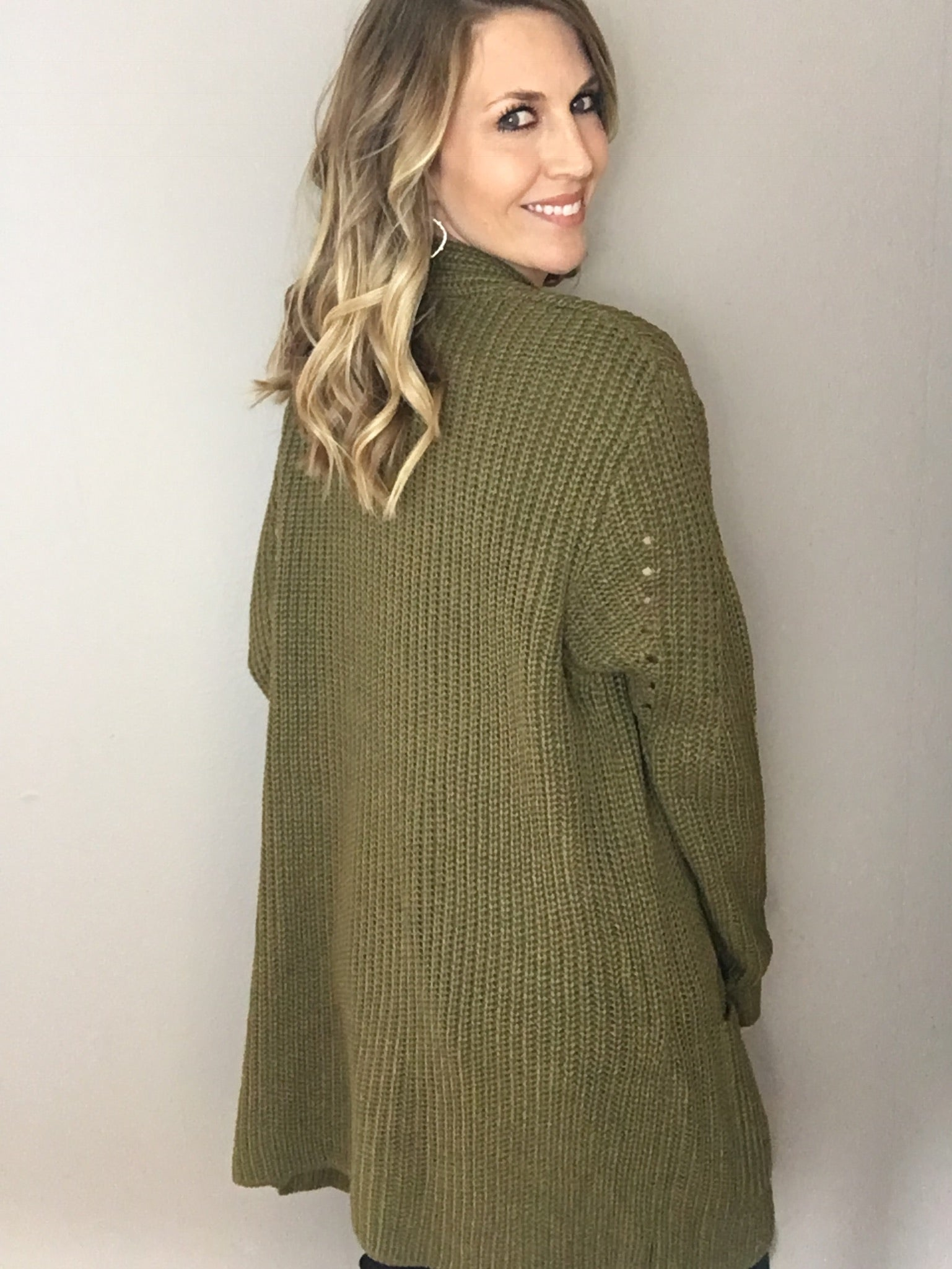 Great Escape Olive Cardigan