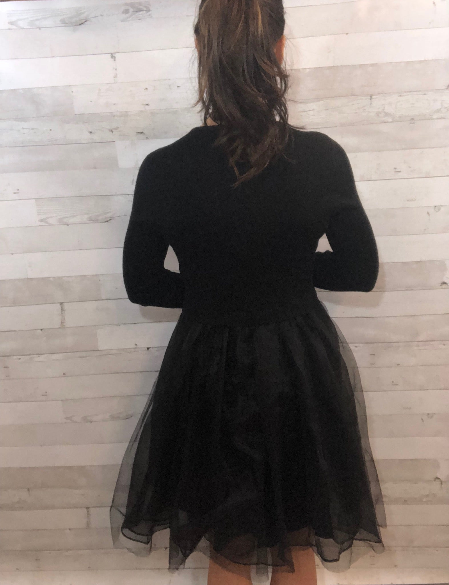 Holiday Delight Black Dress