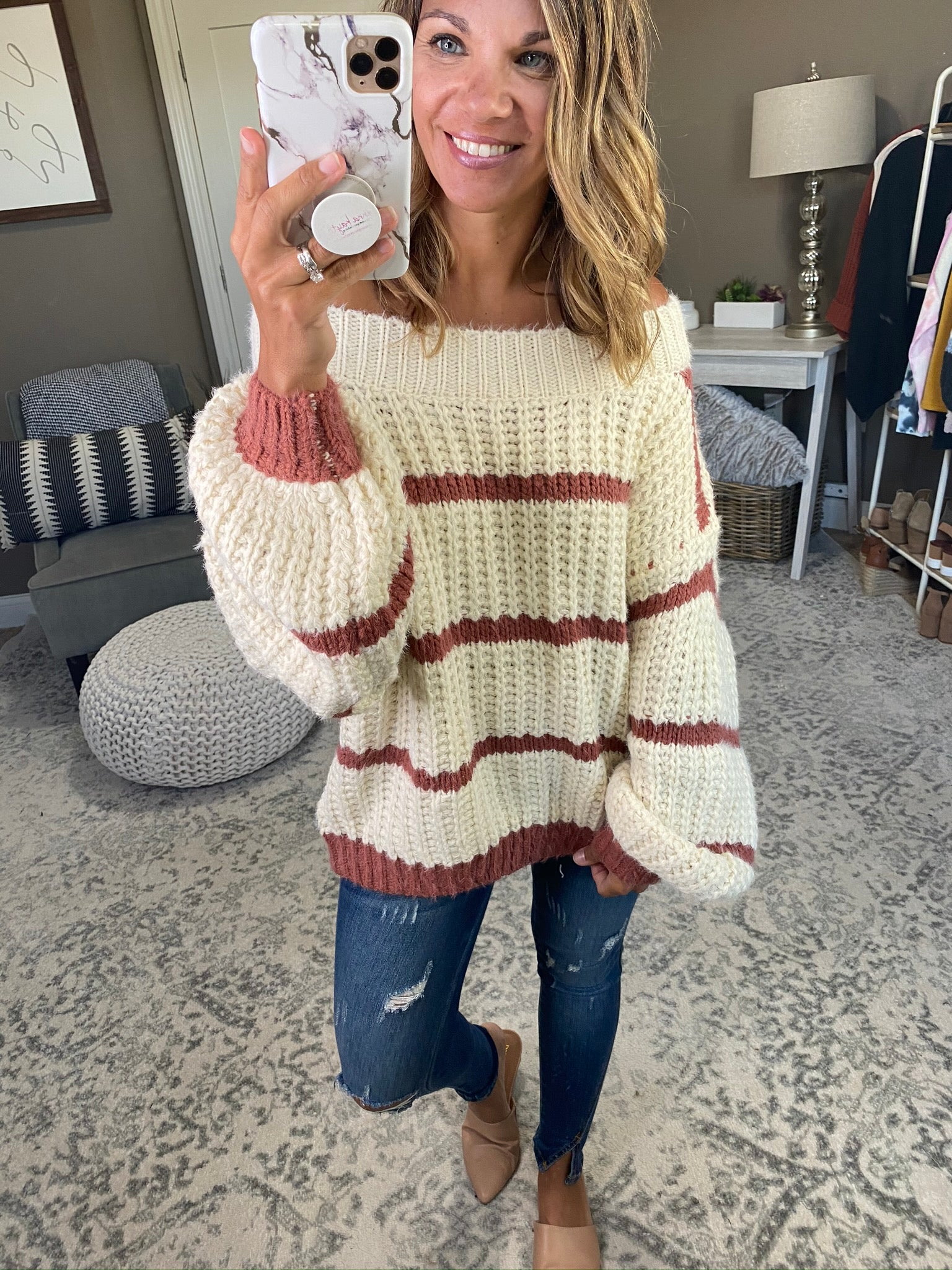 See You Around Chunky Knit Oversize Sweater- Multiple Options