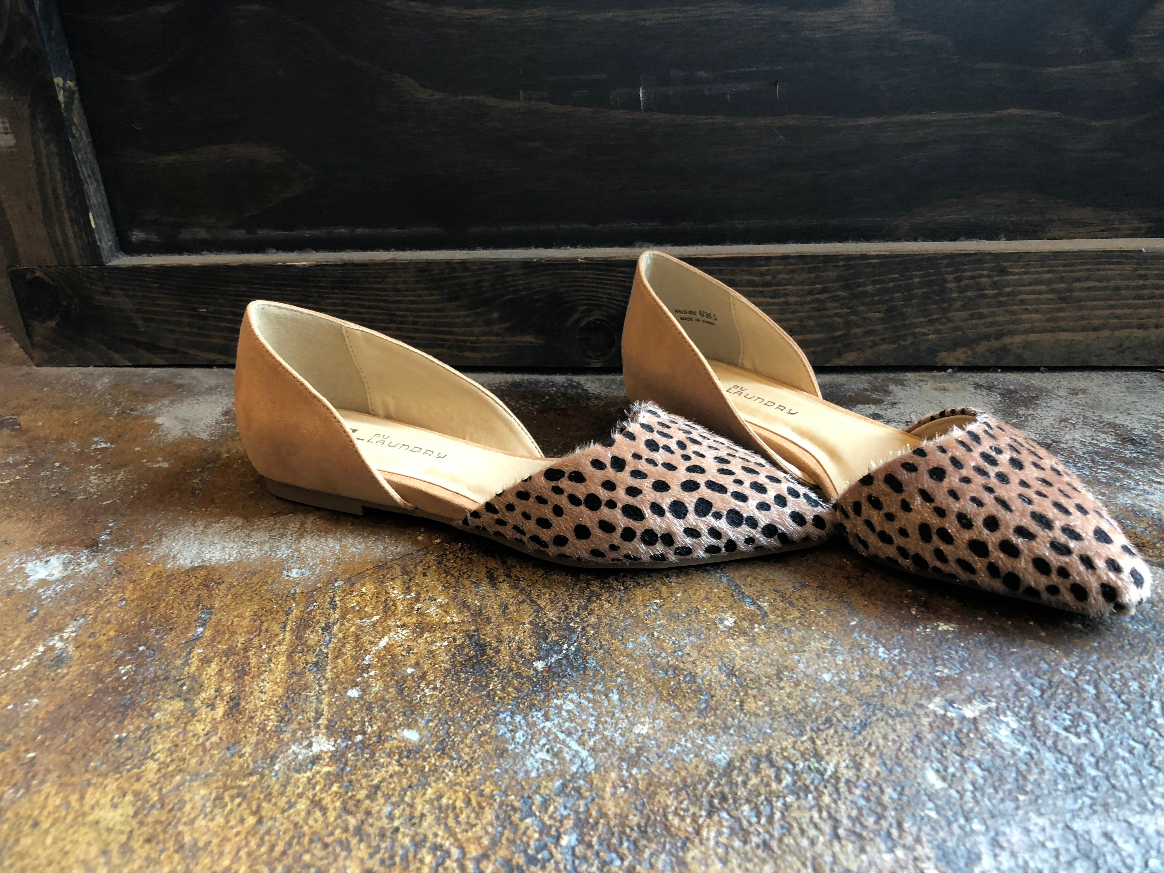 All About You Spotted Pointed Flats