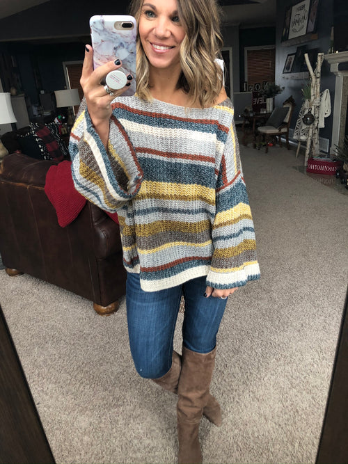 Stay in the Mix Stripe Sweater