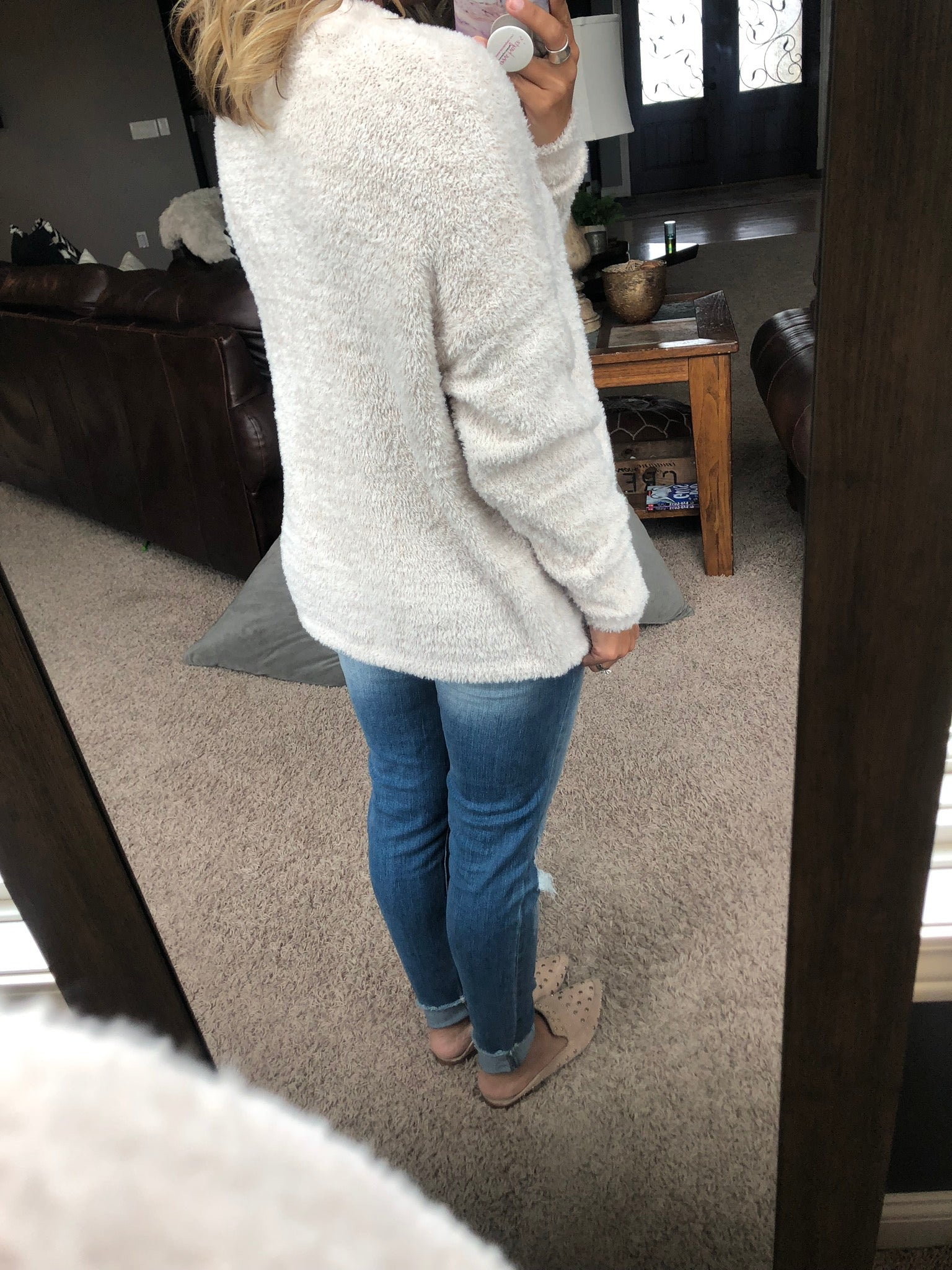Happily In Love Cream Sherpa Super Soft Cardigan