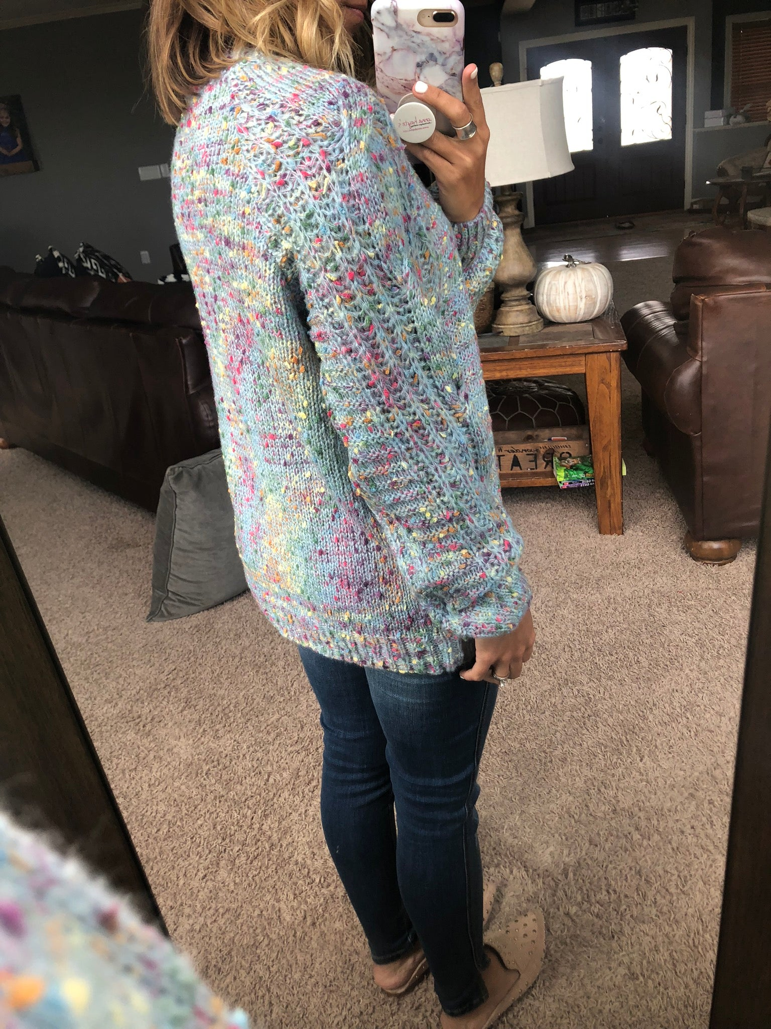 Every Little Thing Sky Blue Confetti Sweater