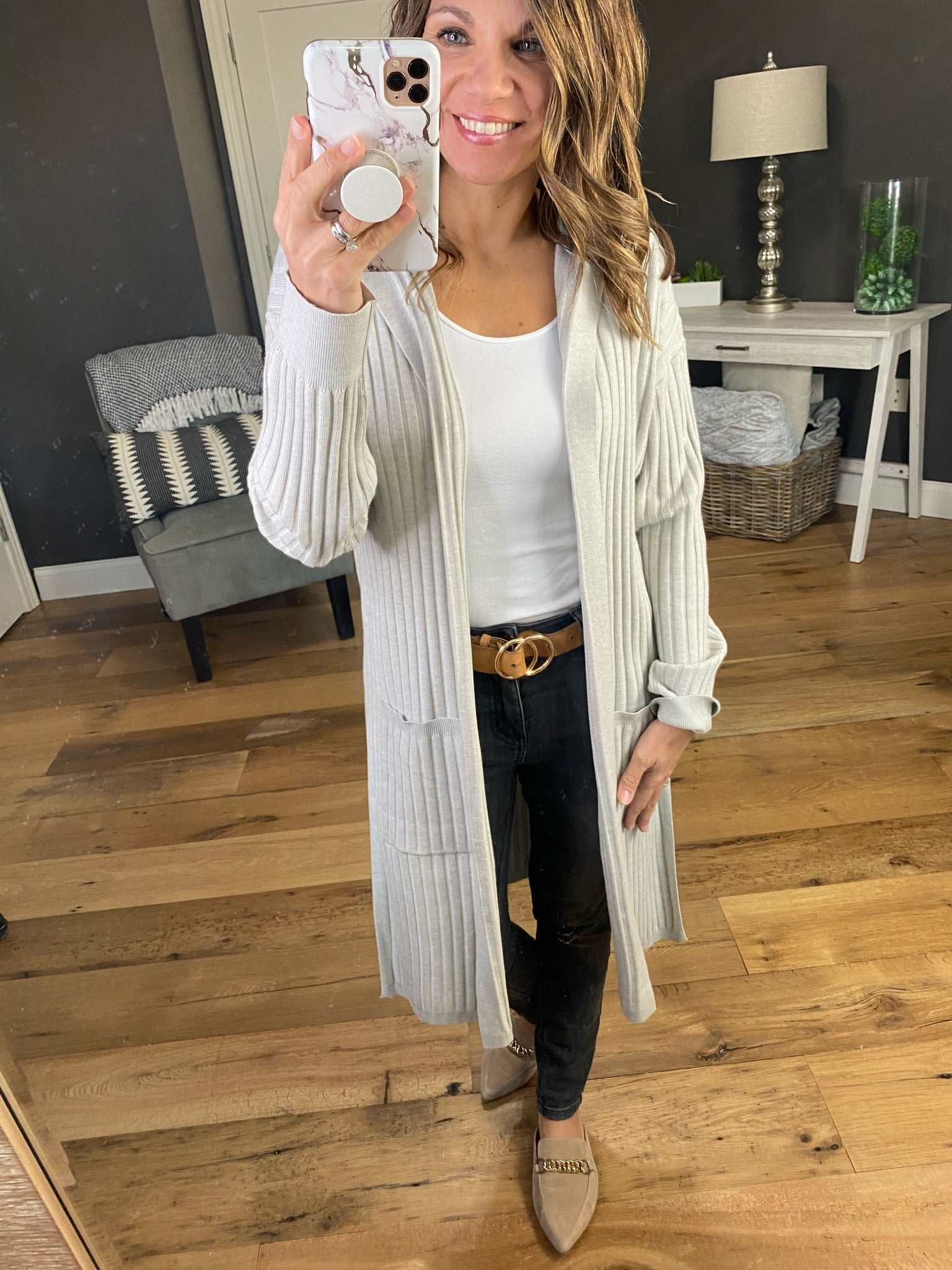 Living The Dream Ribbed Duster Cardigan with Hood - Multiple Options
