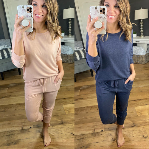 Who Do You Love Jogger and 3/4 Sleeve Dolman Set- Multiple Options