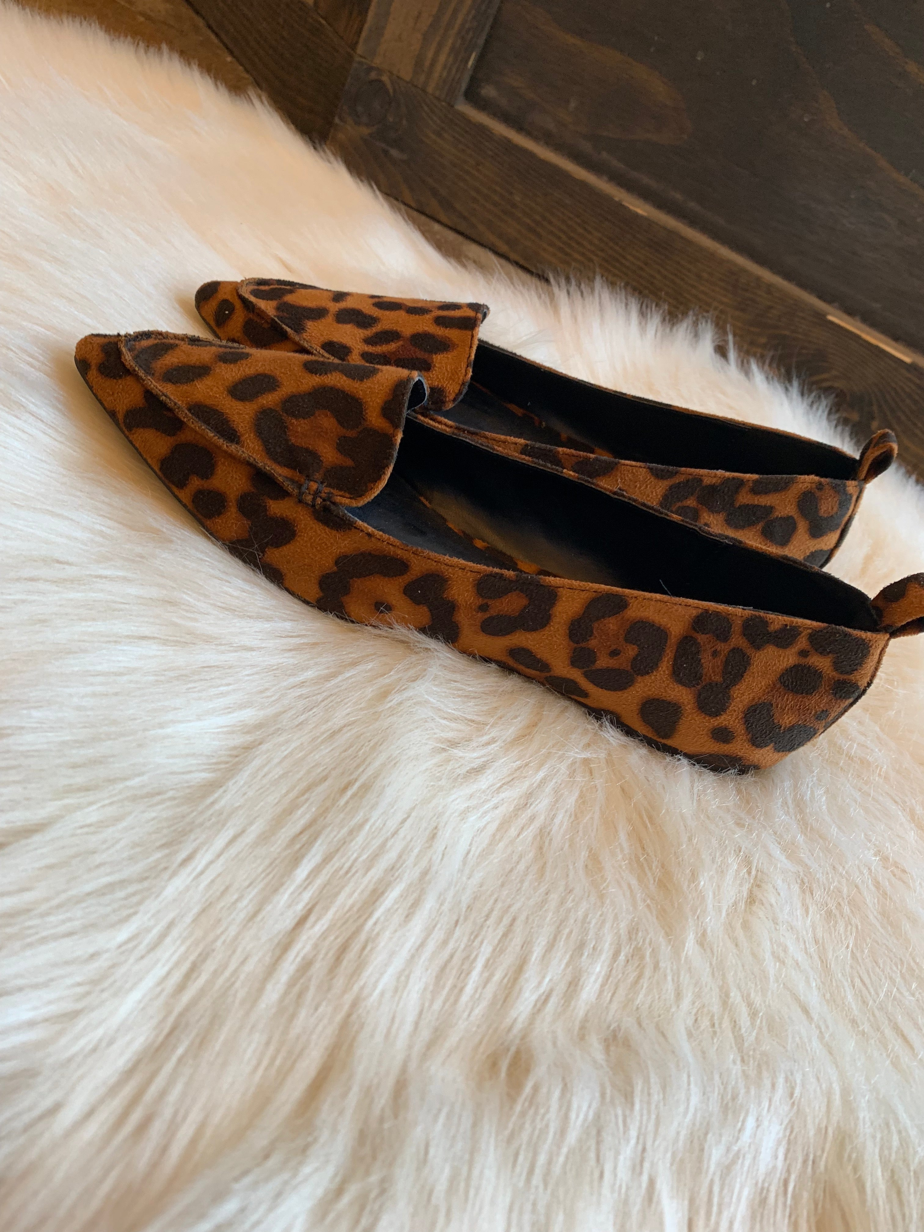 Styled Up Leopard Pointed Toe Flats