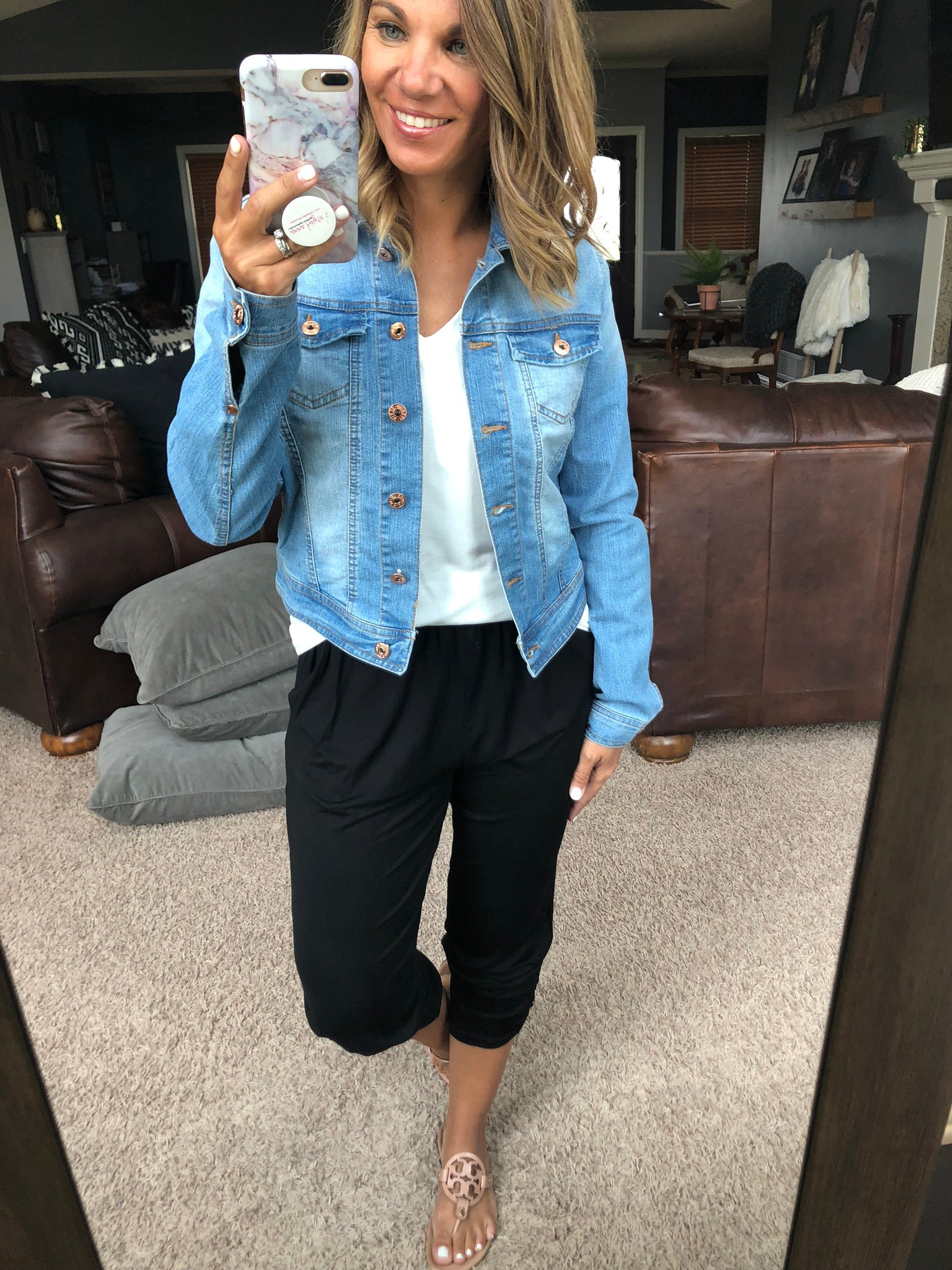 Keeping It Classic Light Wash Cropped Denim Jacket