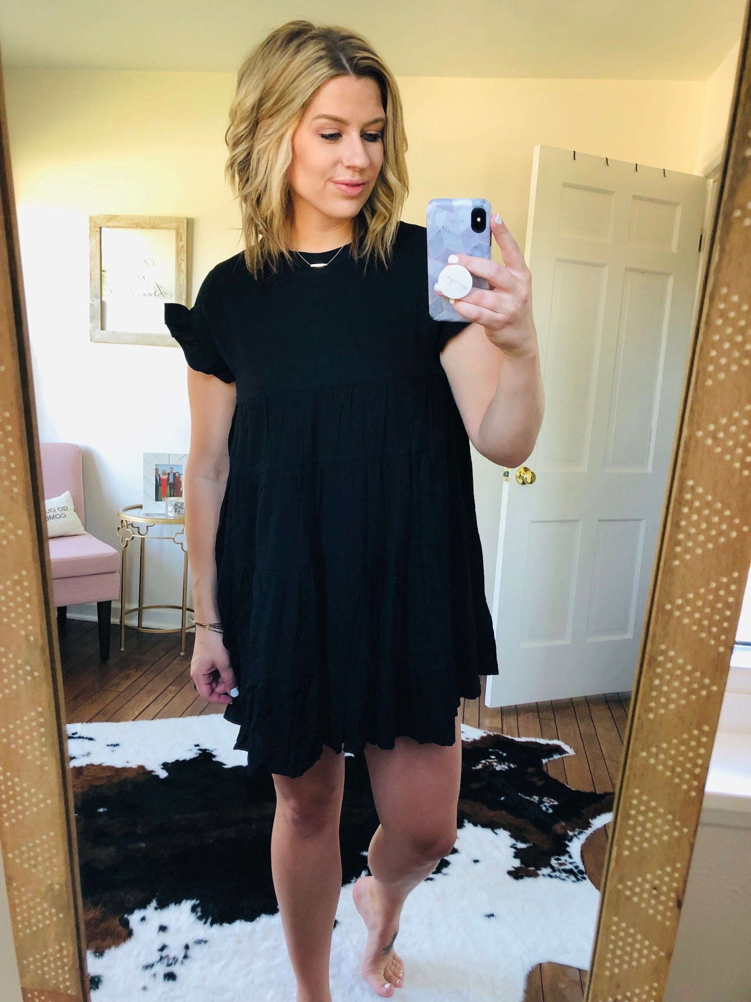 Time of Our Life Black Tiered Ruffle Dress